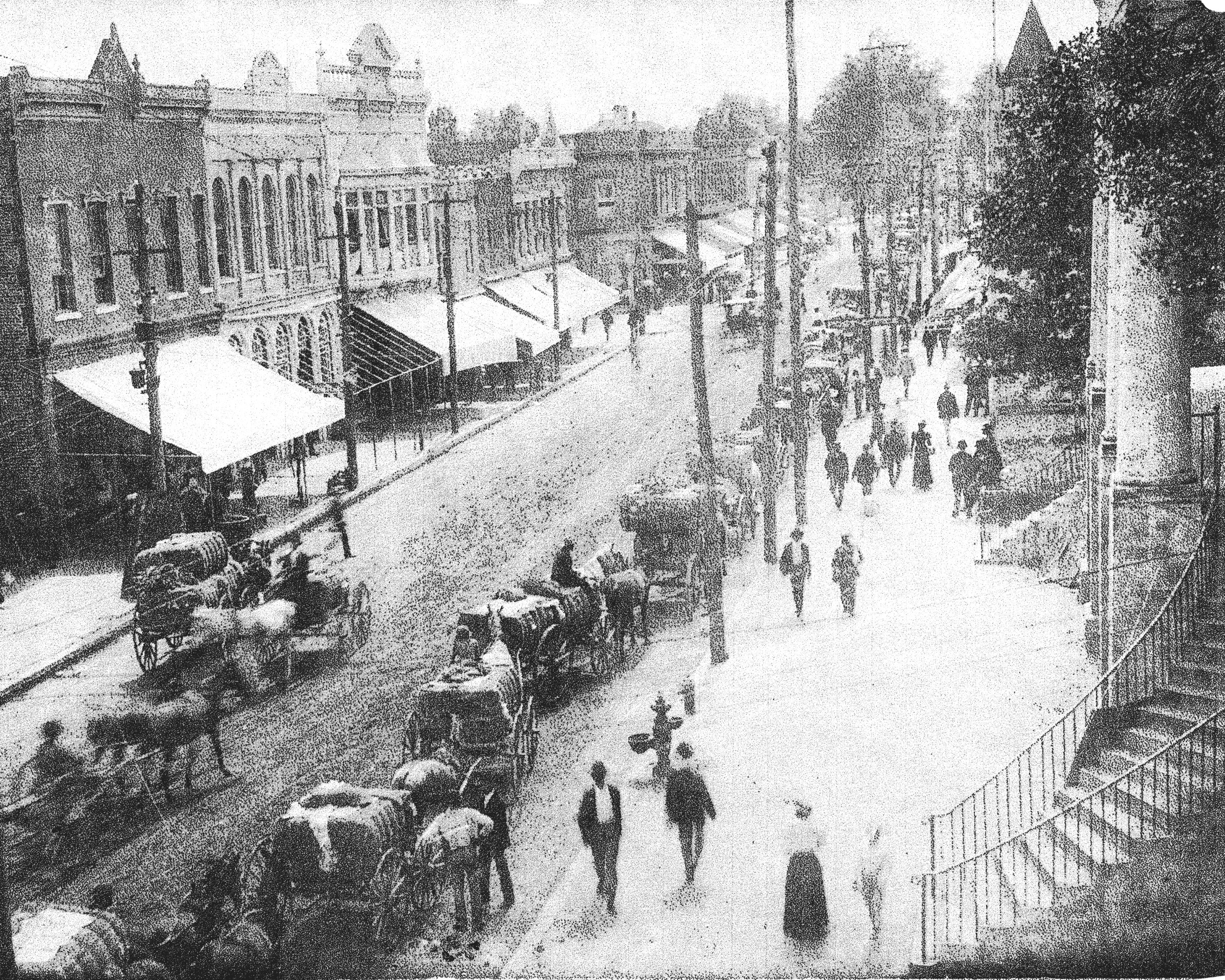 Main Street is seen circa 1900, about the time Sumter's population reached more than 5,000.