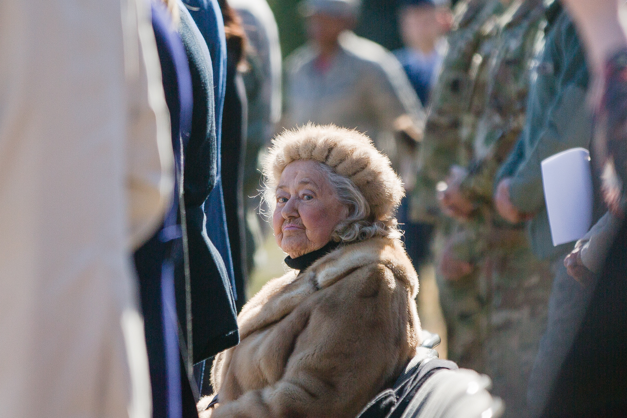Jacqueline Heckel, the widow of Lt. Charles Heckel, attended the ceremony in her husband's honor at Shaw Air Force Base last week.