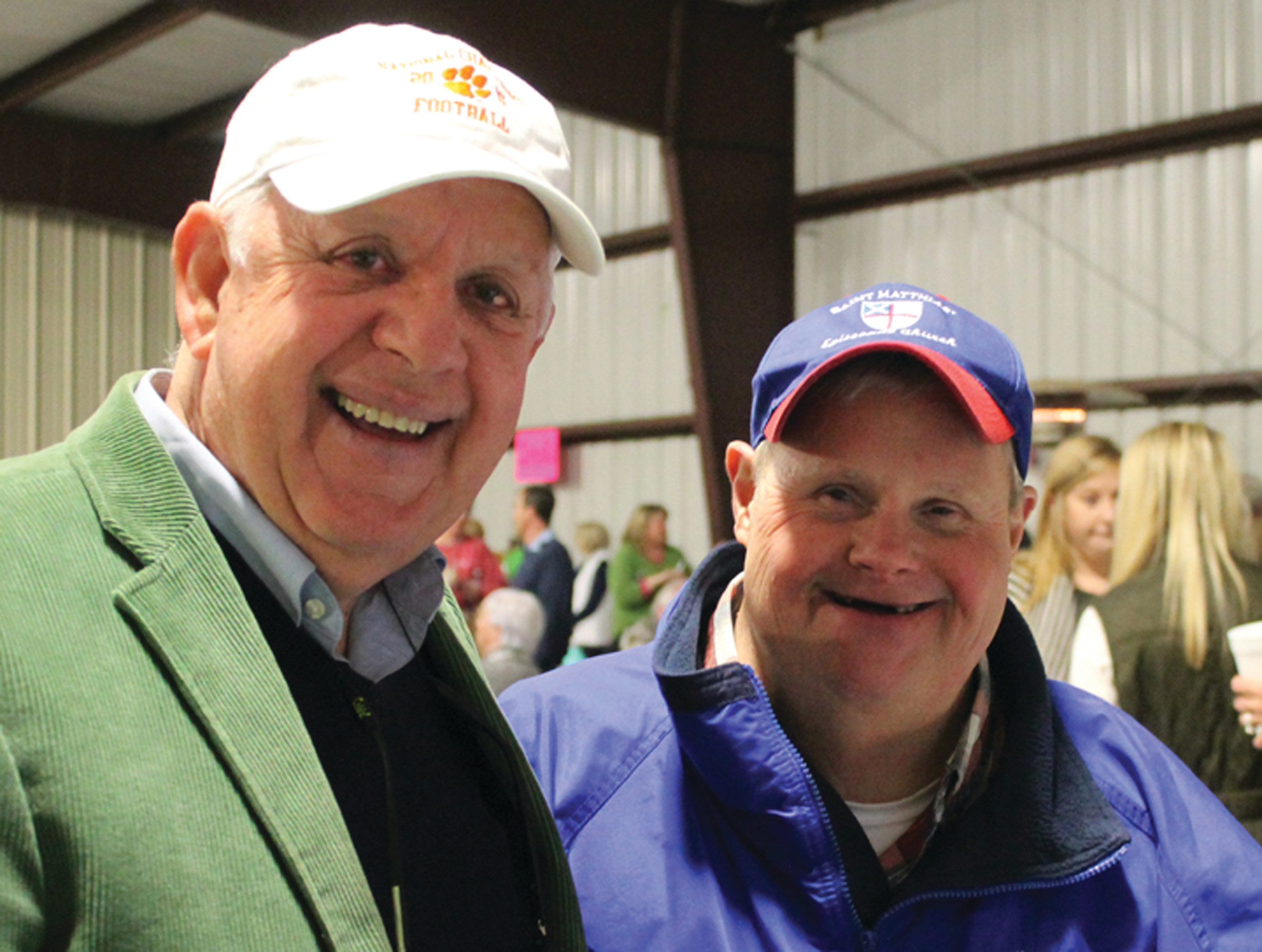 Summerton resident Jim Darby and Clarendon County's own Bubba Davis enjoyed Saturday night's St. Matthias Oyster Roast.