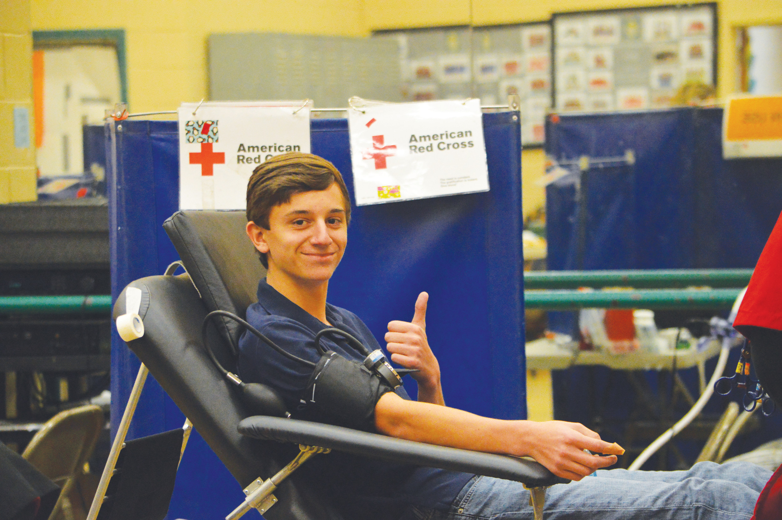 PHOTO PROVIDEDRecently, Thomas Sumter Academy partnered with the American Red Cross and held a blood drive in which students, parents, faculty and staff contributed blood.
