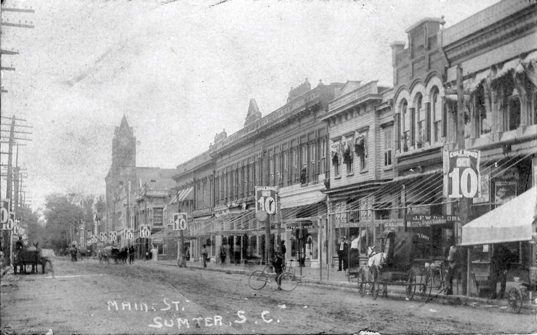 Main Street in Sumter is seen. The city grew to more than 5,000 people in 1894.