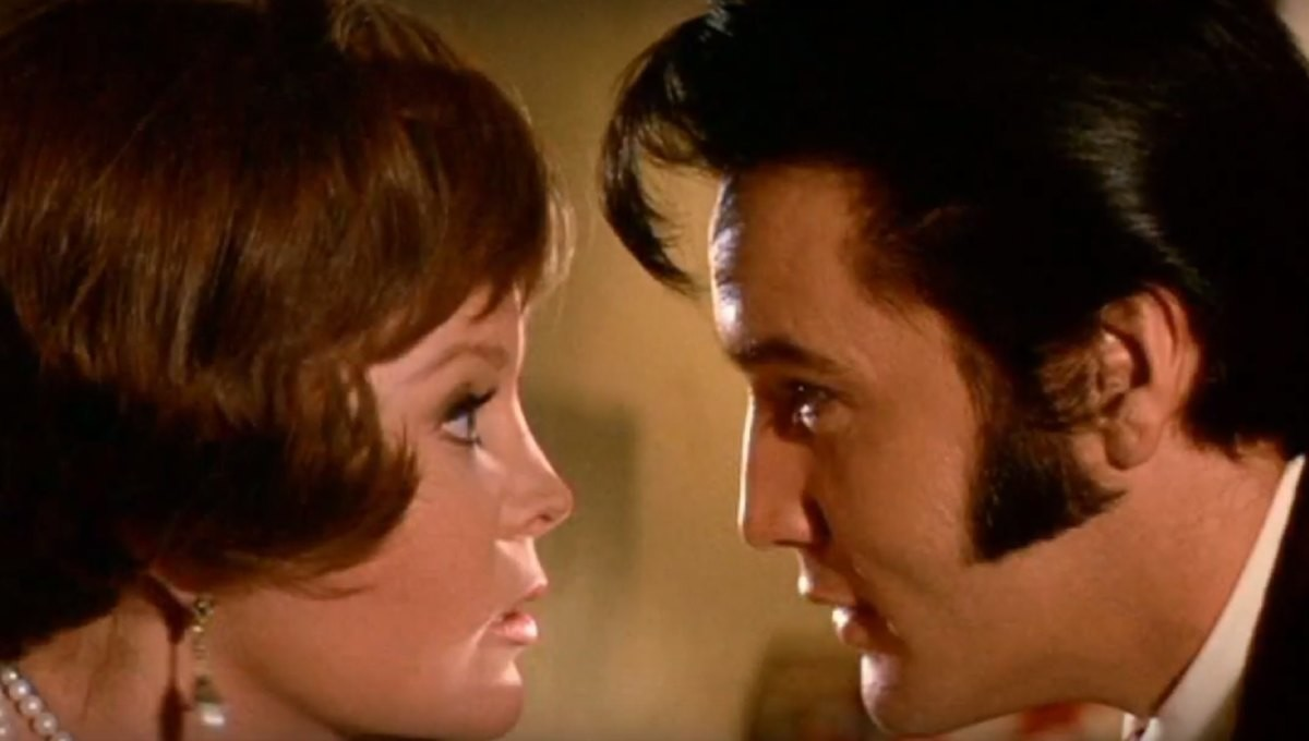"PHOTO PROVIDED BY MGMMarlyn Mason and Elvis Presley star in MGM'S ""The Trouble with Girls."""