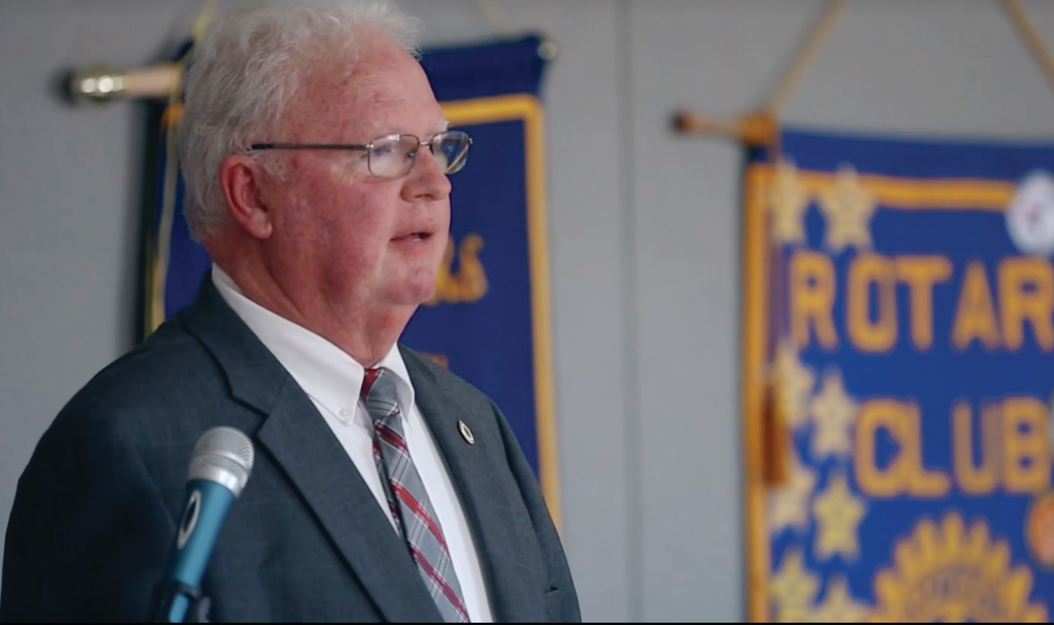 "Lewis ""Jackie"" Swindler, director of South Carolina Criminal Justice Academy, speaks during the annual Law Enforcement Day Luncheon hosted by Rotary Club of Sumter-Palmetto on Thursday."