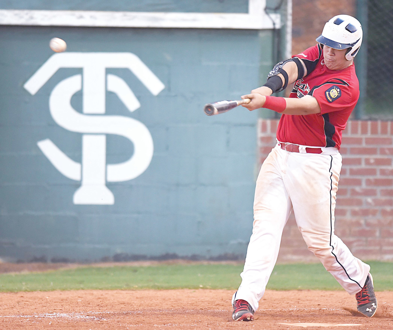 Lenny Gonzalez, shown playing for Dalzell-Shaw Post 175, is back for his sophomore season at USC Sumter and will start at first base today when the Fire Ants open their season. They will play doubleheaders today and on Saturday against Pitt Community College in Greenville, N.C.