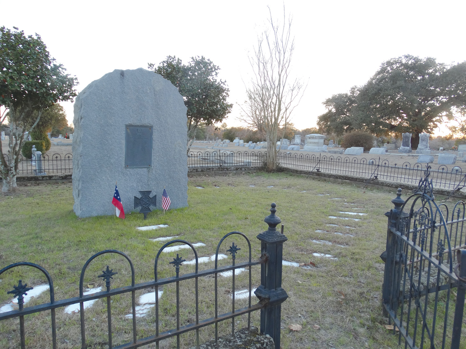 The Sumter Cemetery plot where the unknown soldier is buried, along with others who died during the Civil War, is seen recently.