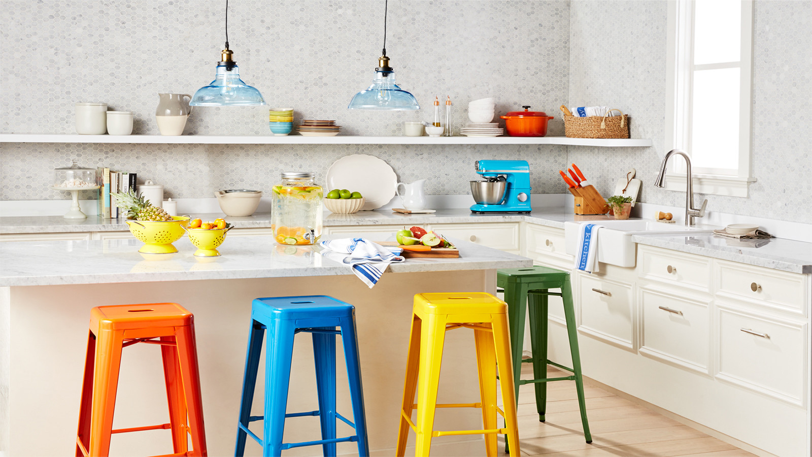 This undated artist rending provided by Walmart shows its colorful kitchen, which is part of Walmart's new online home shopping experience that will let shoppers discover items based on their style.