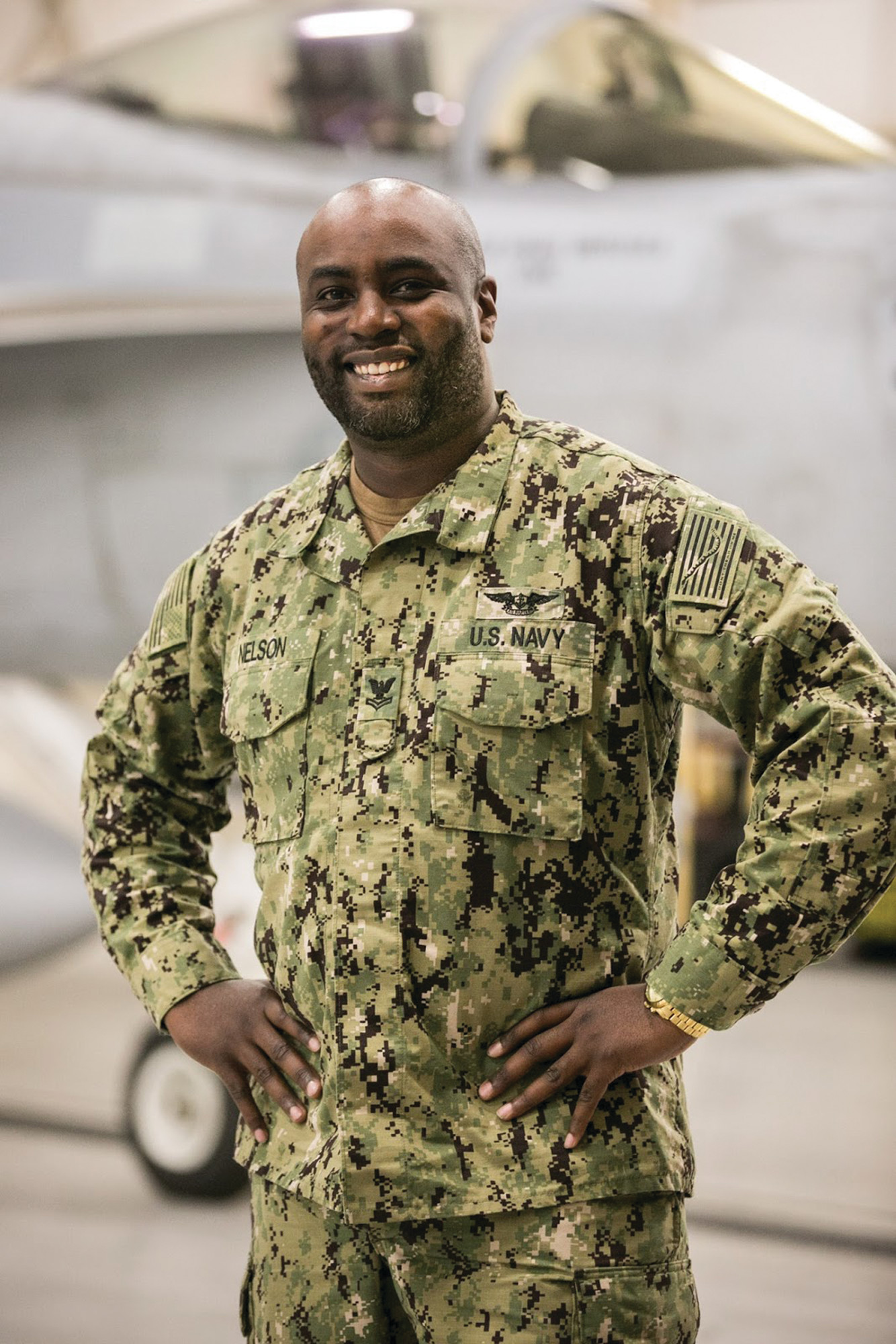 Petty Officer 2nd Class Dwight Nelson, a native of Sumter, is an aviation machinist's mate working with the Strike Fighter Wing Pacific Detachment stationed aboard Naval Air Station Fallon, Nevada.