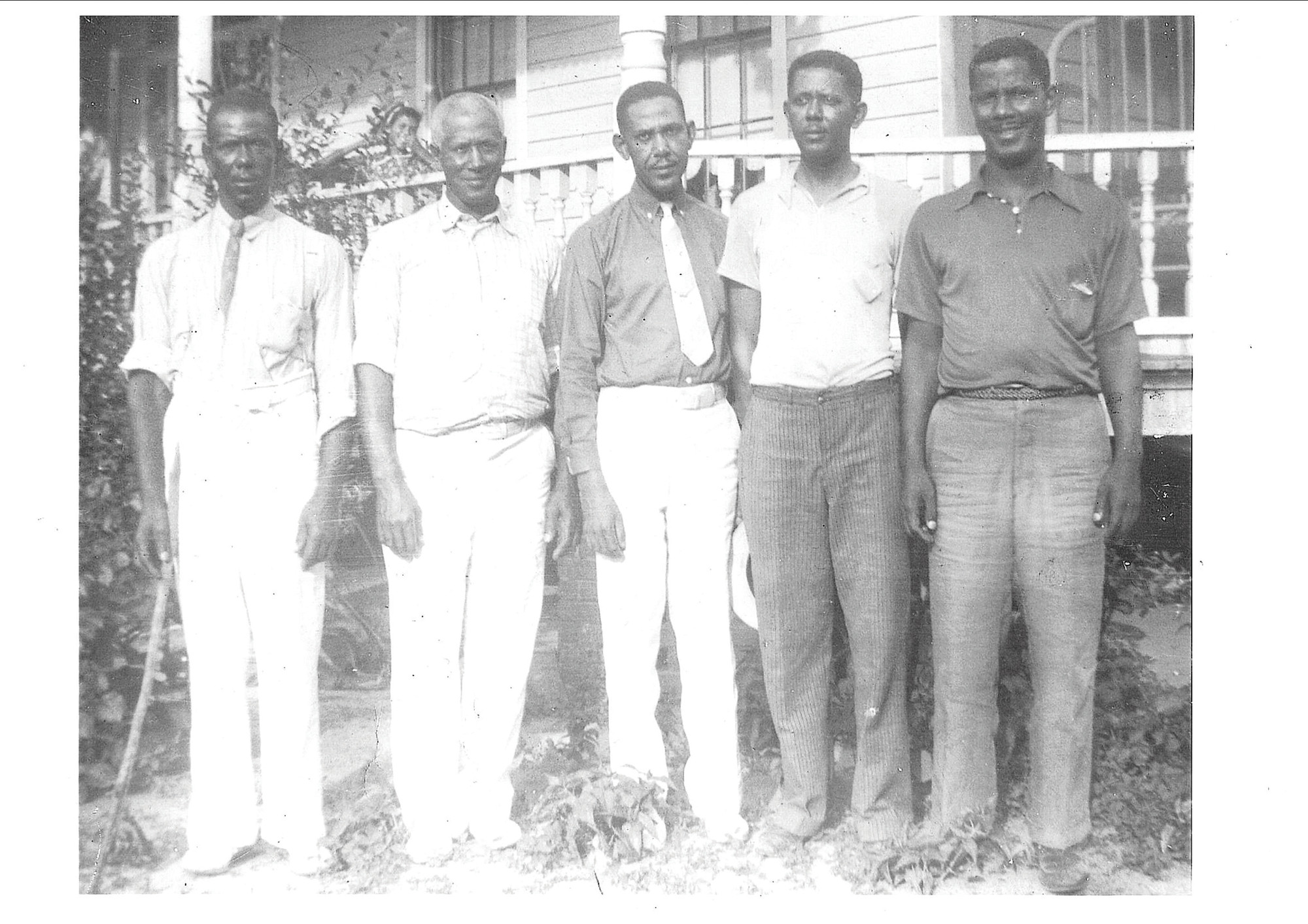 Dr. B. T. Williams is seen third from left with his brothers. Williams is remembered as a professional who helped those in need in Sumter. He died at age 71.