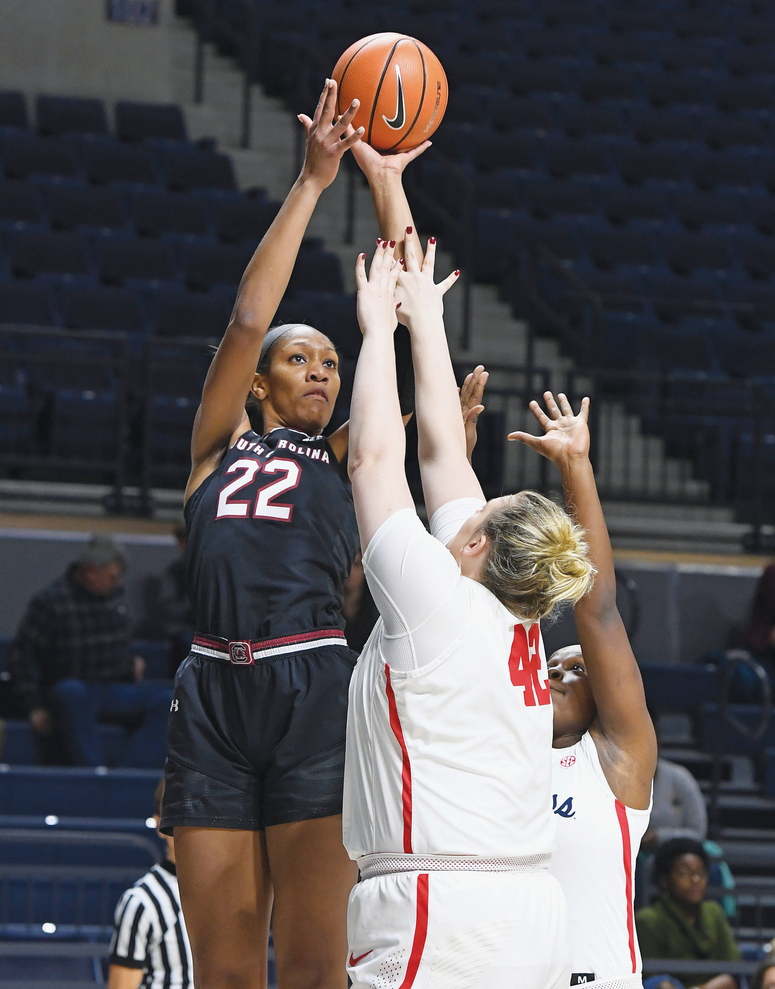 THE ASSOCIATED PRESS  South Carolina's A'ja Wilson was named The Associated Press Southeastern Conference women's basketball player of the year for the third consecutive season on Tuesday.