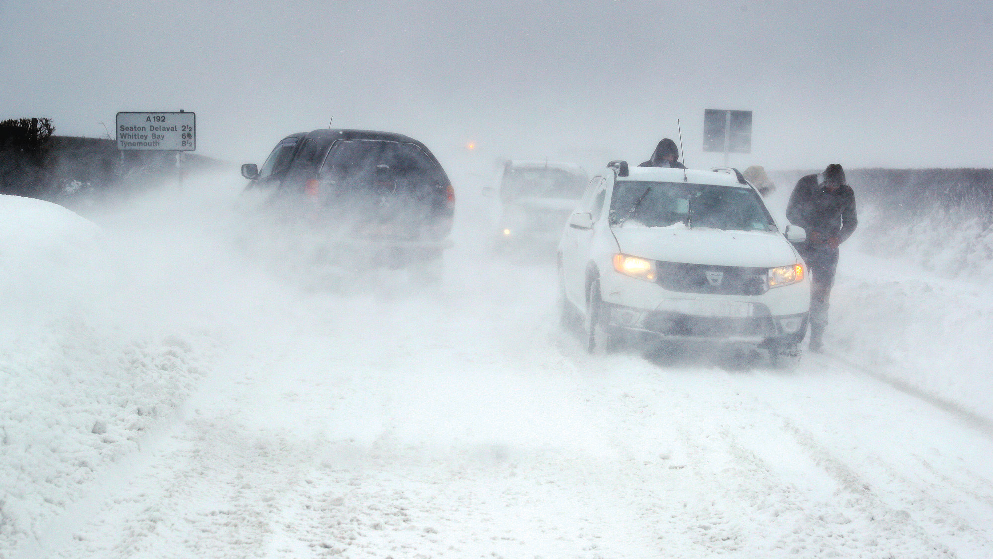 Siberian Snow Storms Blasted Britain, Ireland