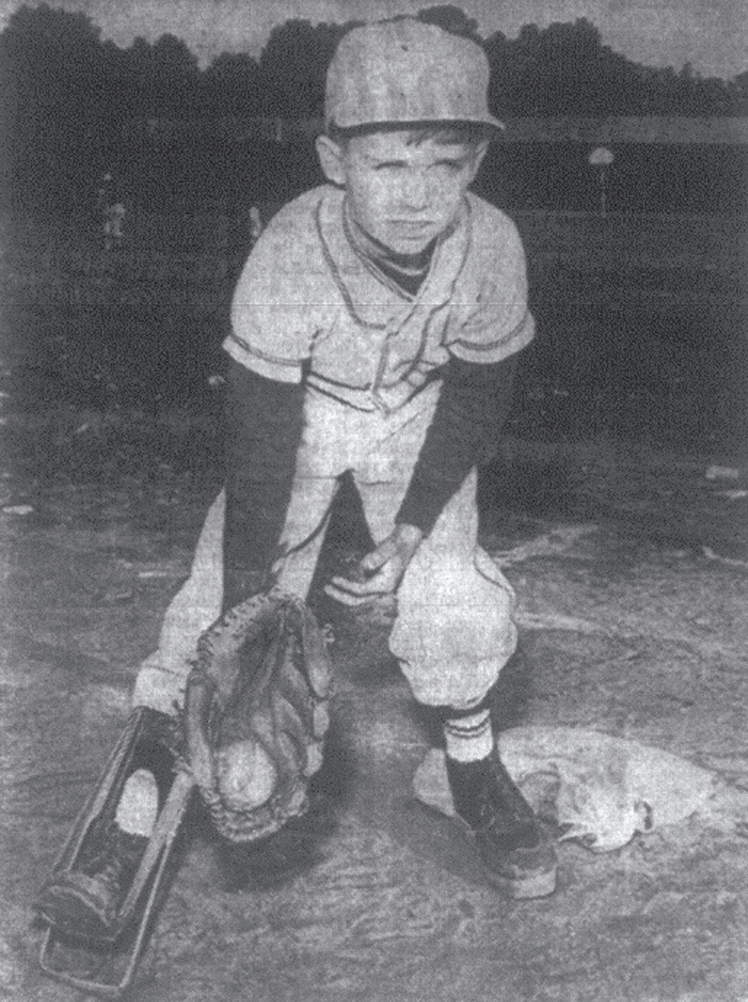 1968 - Larry Goff didn't give up baseball just because he had a brace the length of his leg. He became Santee Print's first baseman, a position he has covered well while compiling a two-year record of perfect attendance.
