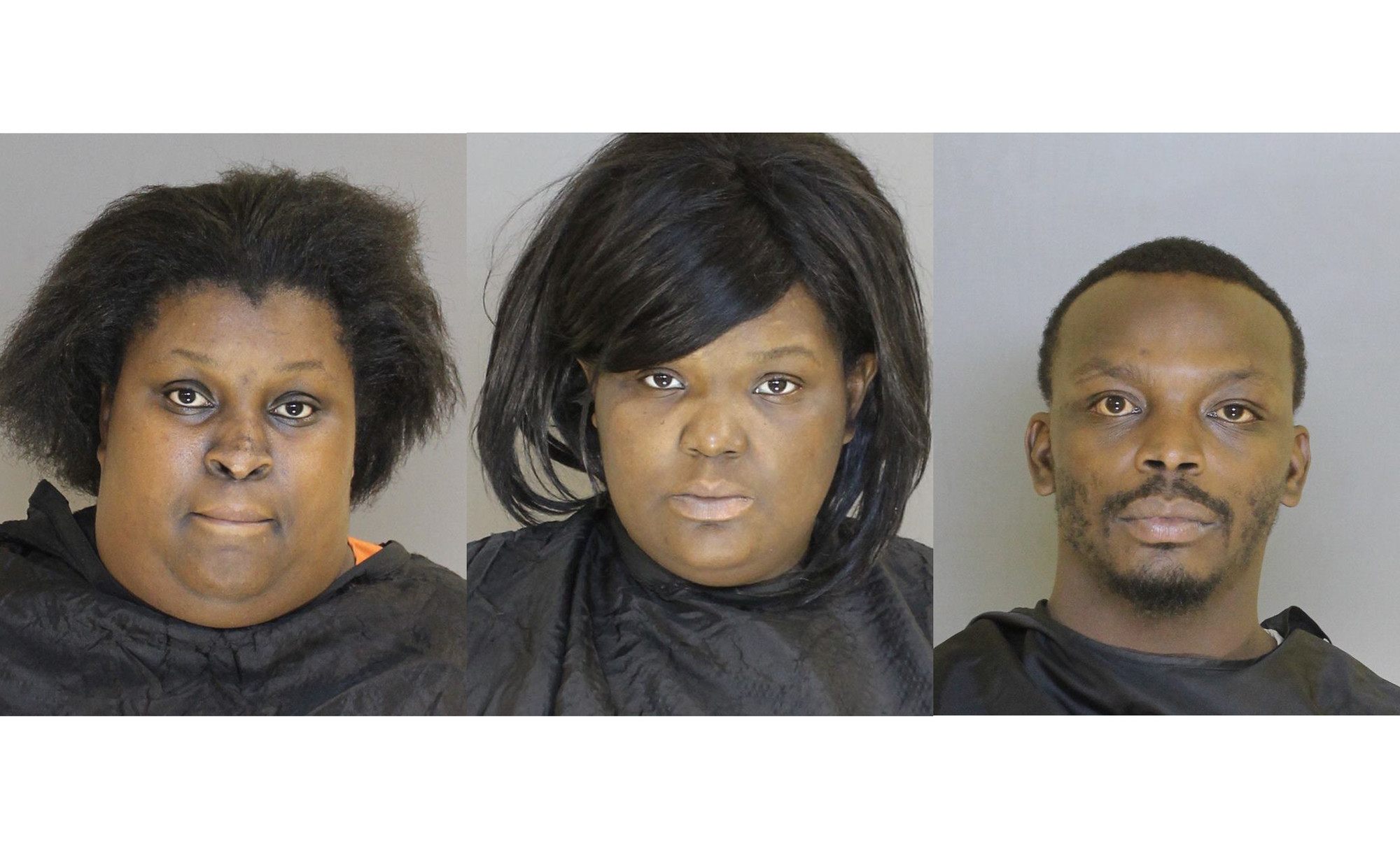 From left, Aireal Lakeia Johnson, Kimberly Denise Burgess, Rodney Jermaine Burgess.