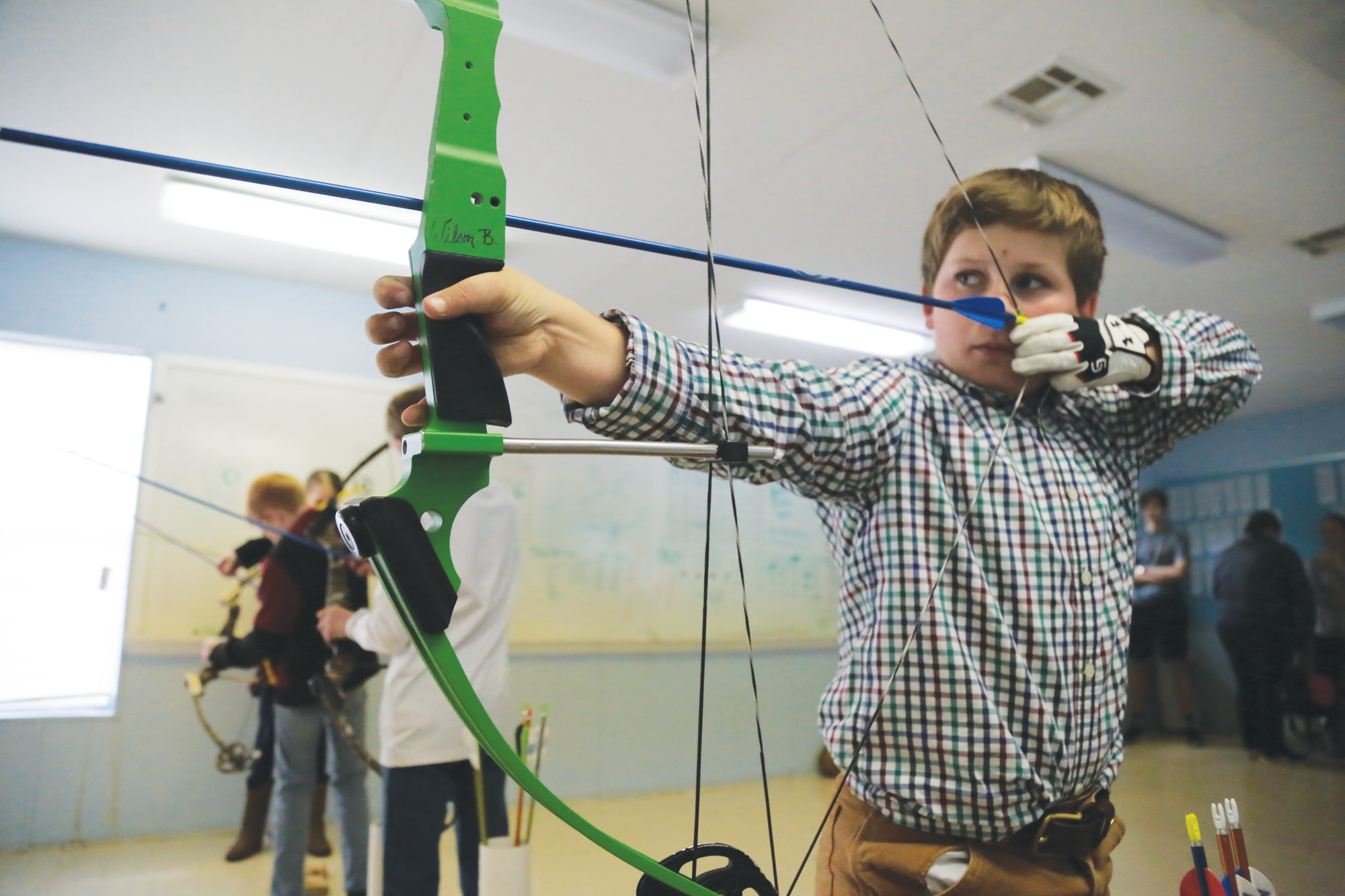 TSA fifth-grader William Britton will lead the elementary school team at the upcoming National Archery in the Schools Program state tournament to be held March 27-29 at Sumter County Civic Center.
