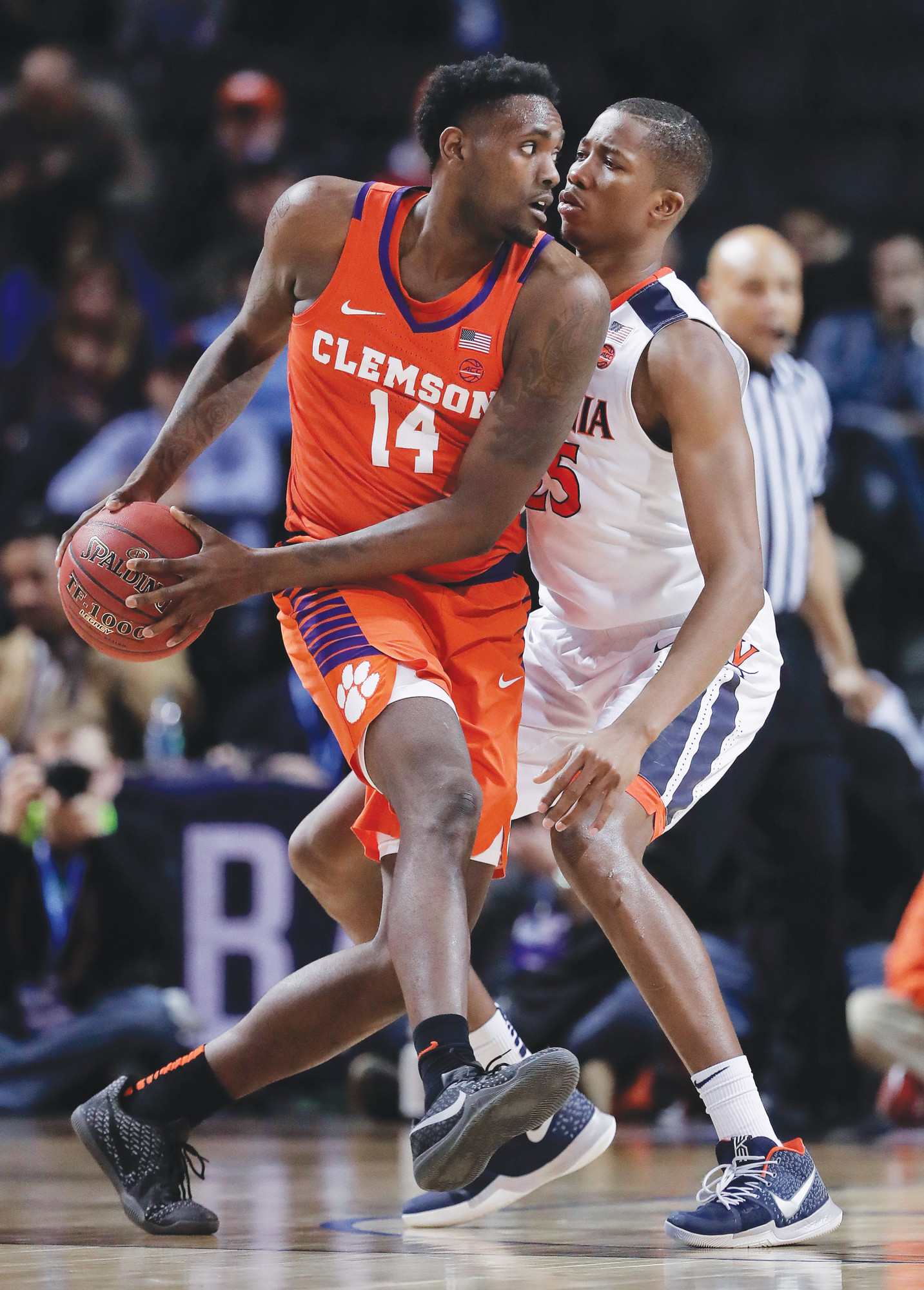The Associated PressClemson forward Elijah Thomas (14) and the rest of the Tigers are the No. 5 seed in the Midwest Regional and will take on No. 12 New Mexico State on Friday in the first round of the NCAA tournament. The game will be played in San Diego.