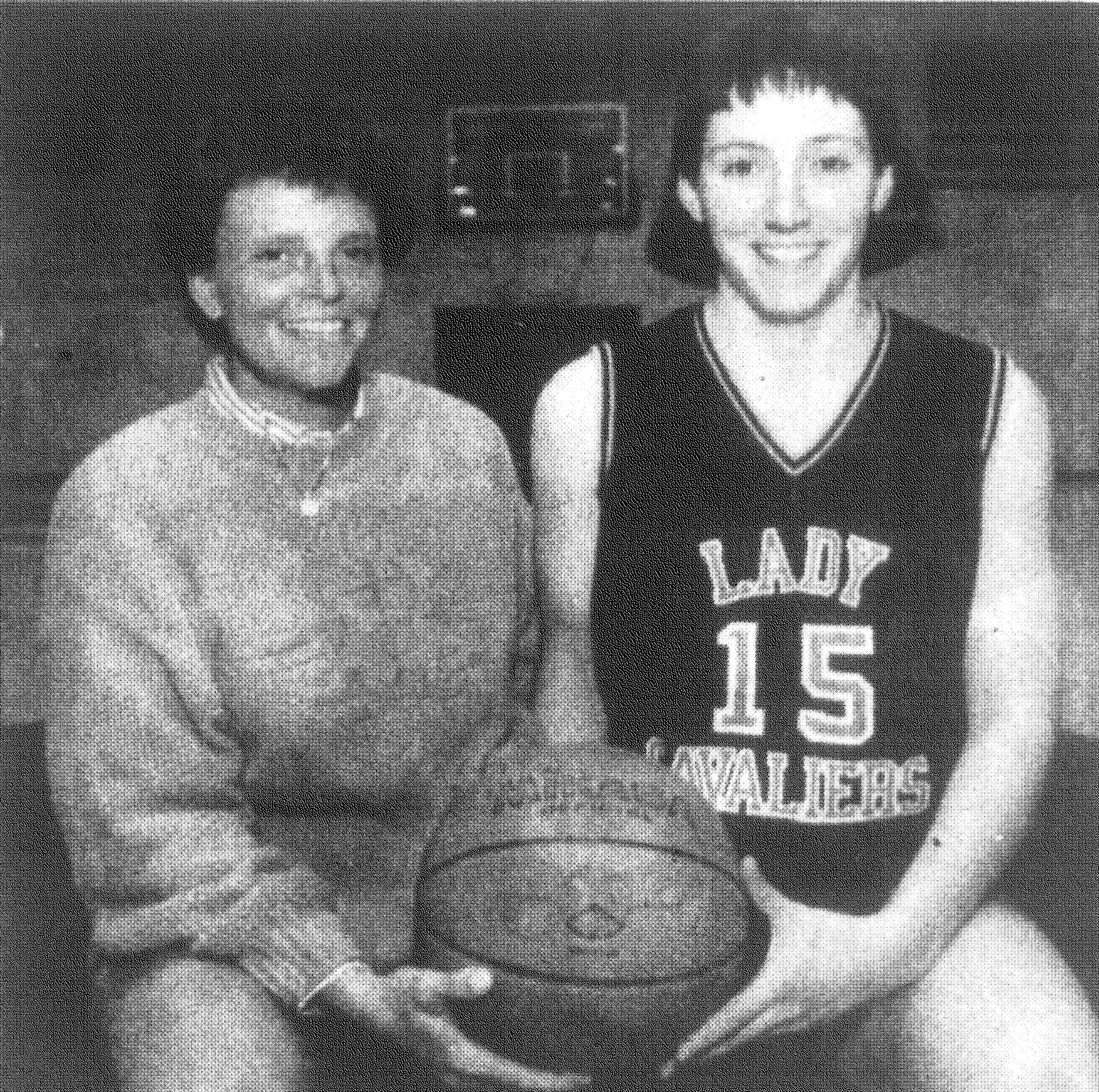 1993 - Robert E. Lee's Kim Langston and Karen White have been named Independent School Coach and Player of the Year, respectively.
