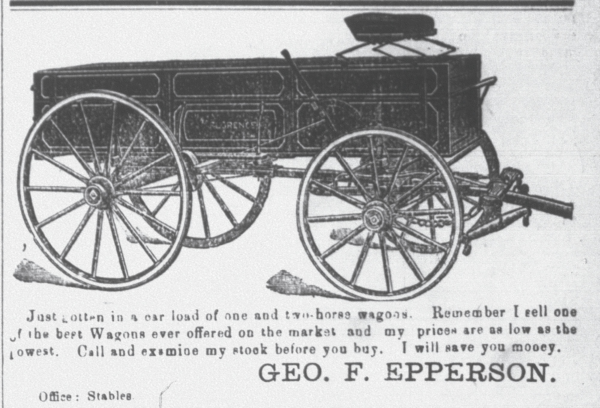 Three shops in Sumter made and sold wagons.