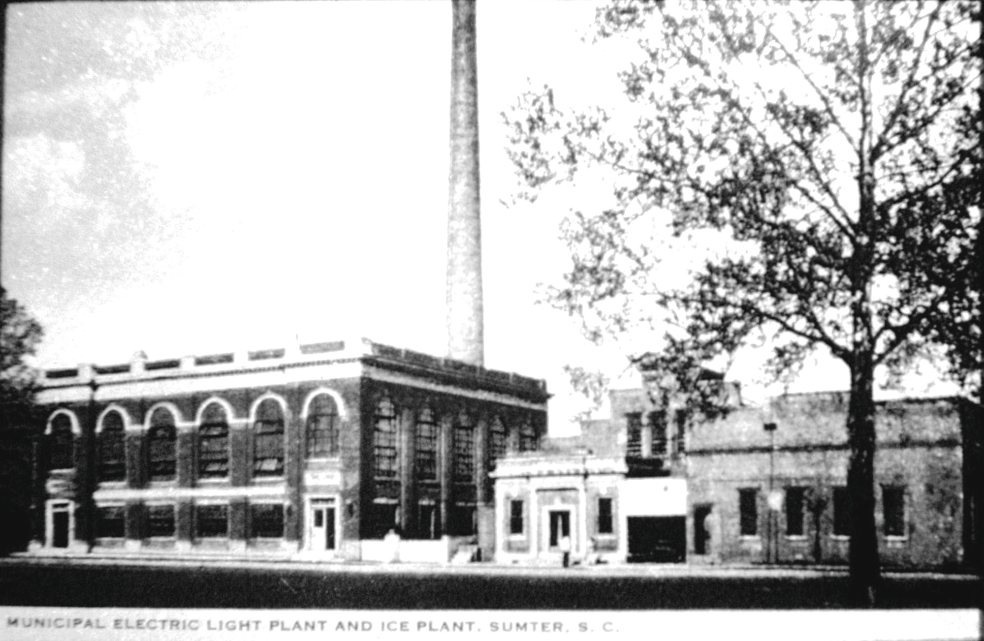 The municipal electric light plant and ice plant is seen in Sumter. Three ice factories produced 61 tons of ice, most of which was shipped outside Sumter.