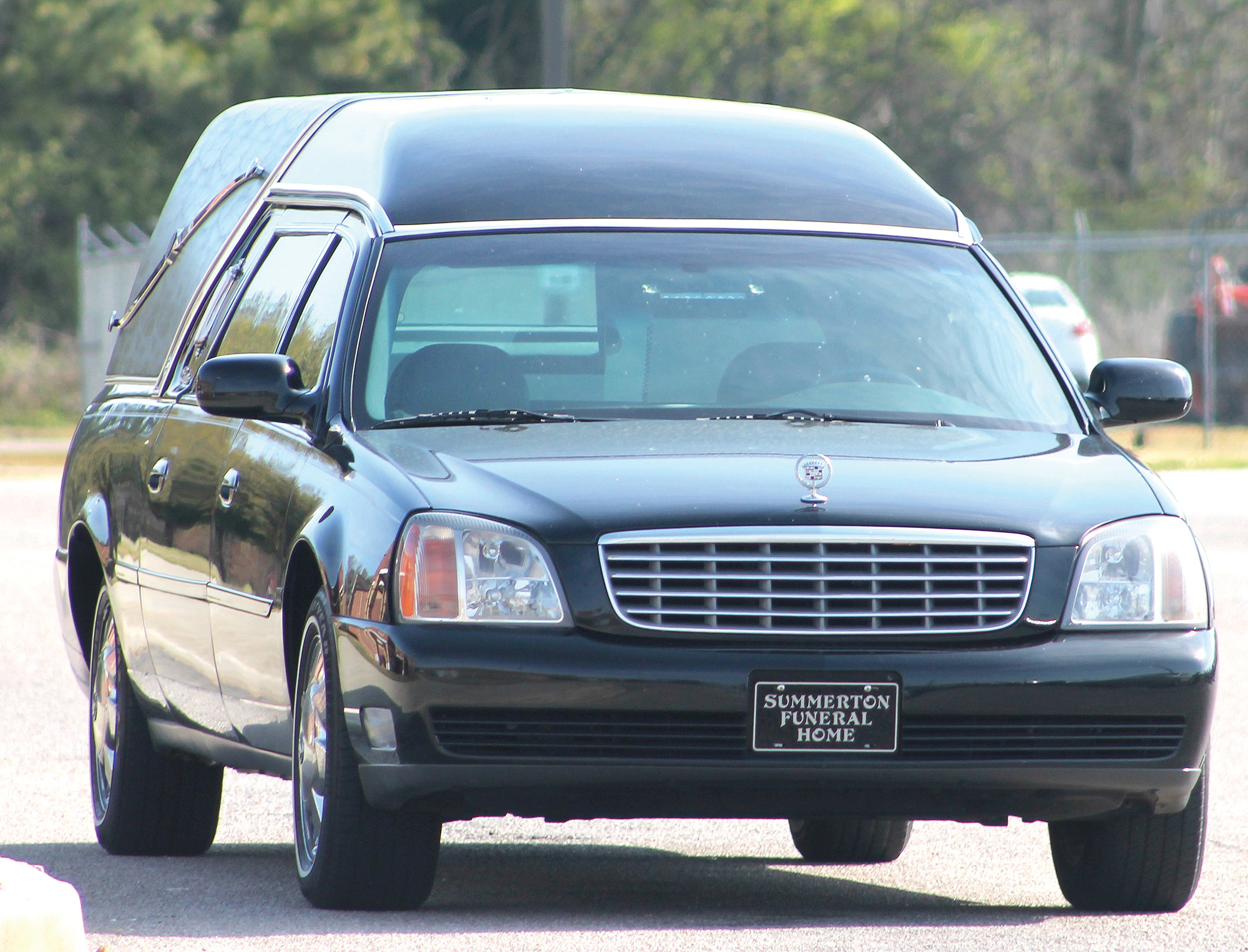 Summerton Funeral Home had the most dramatic end to Wednesday's Prom Promise program. The local funeral home parked a large black hearse  outside the school demonstrating the worst outcome from making poor choices on prom night.