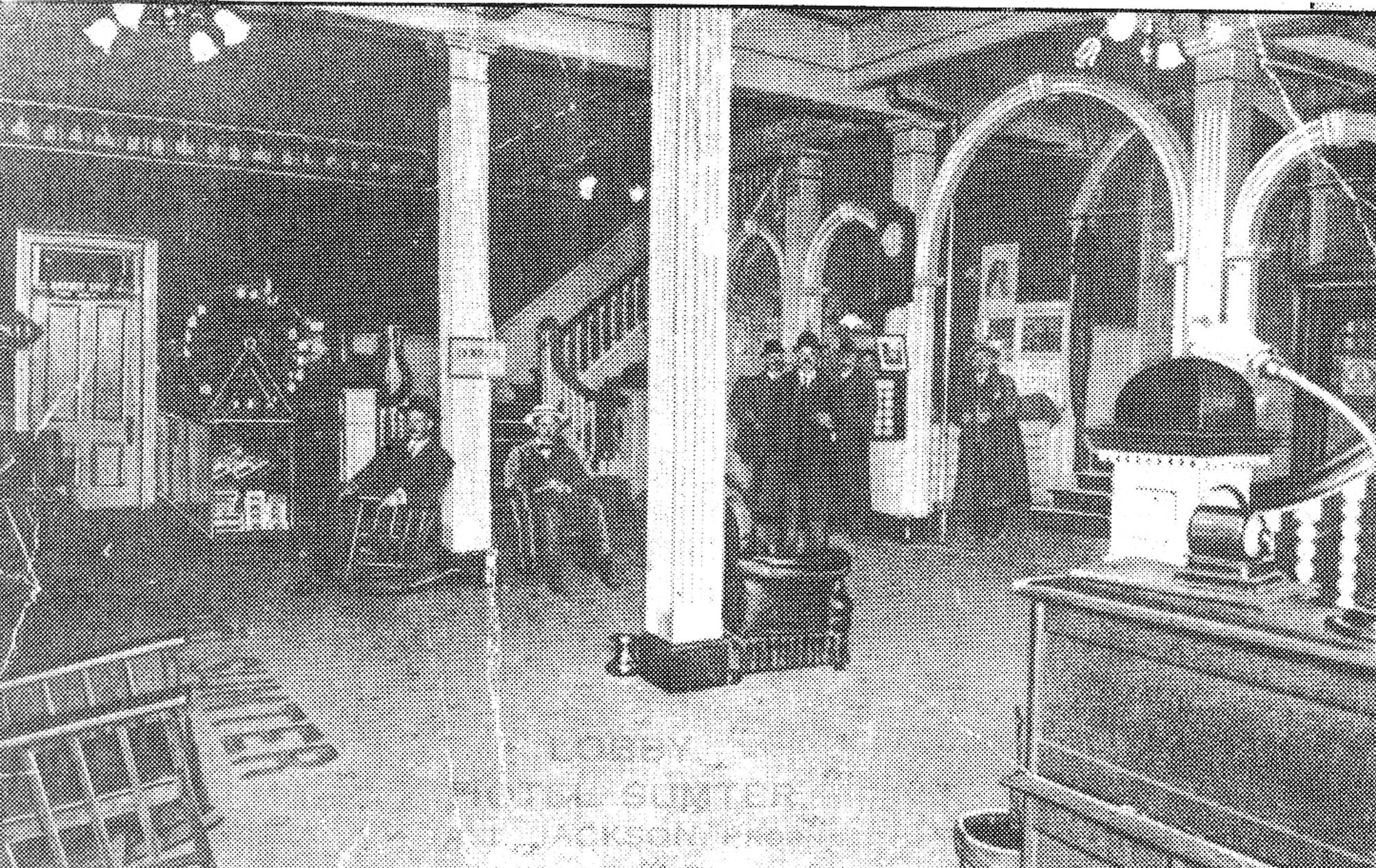 Several guests were photographed in the Hotel Sumter's elegant lobby.