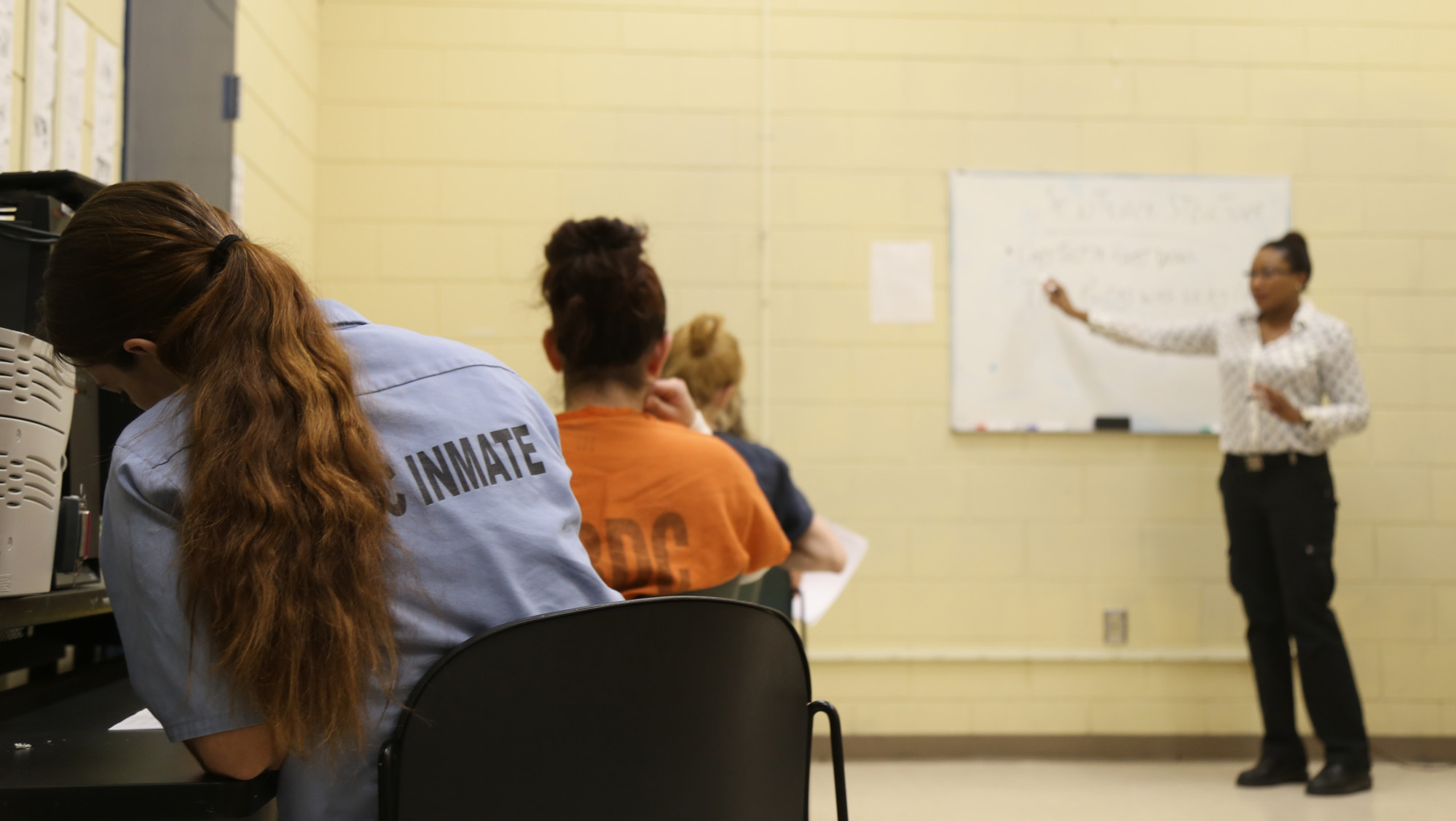 A few inmates at Sumter-Lee Regional Detention Center are making the most of the time by strengthening their education with courses offered by Sumter County Adult Education.