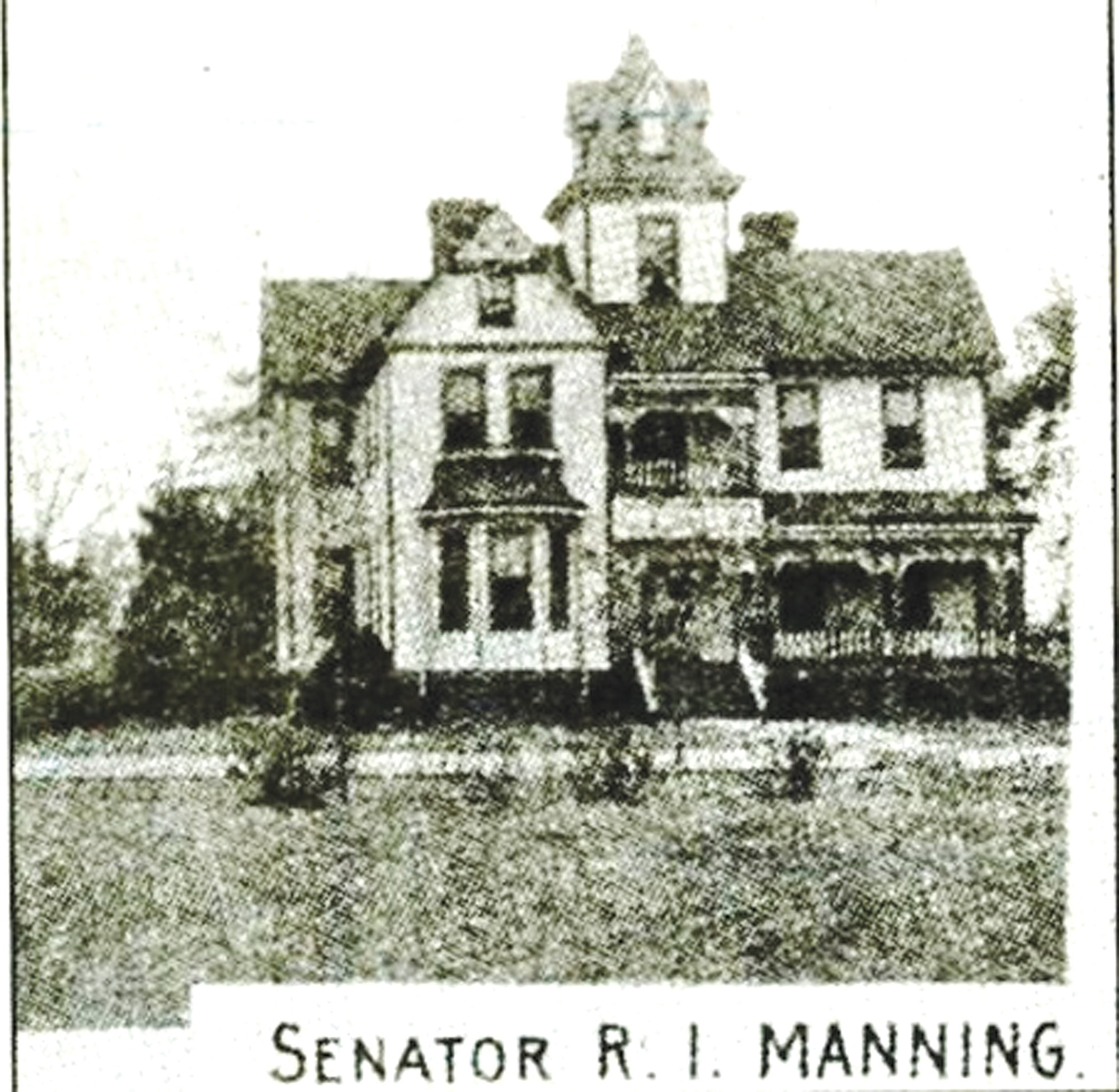 Sen. R. I. Manning's house on Liberty Street