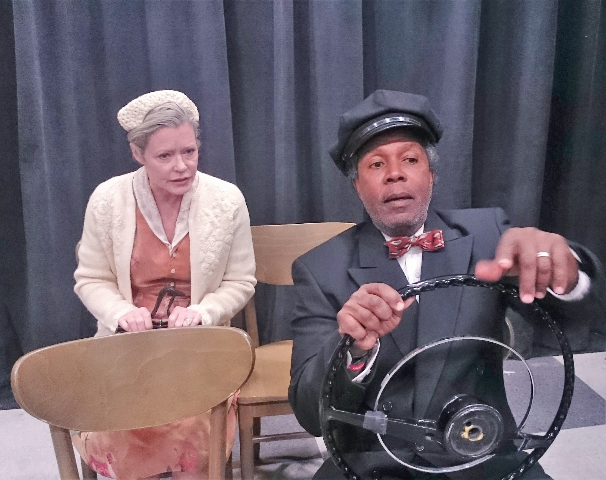 "PHOTO PROVIDED BY PUBLICISTWilson as Miss Daisy and Gilyard as Hoke Colburn in a production of ""Driving Miss Daisy."""