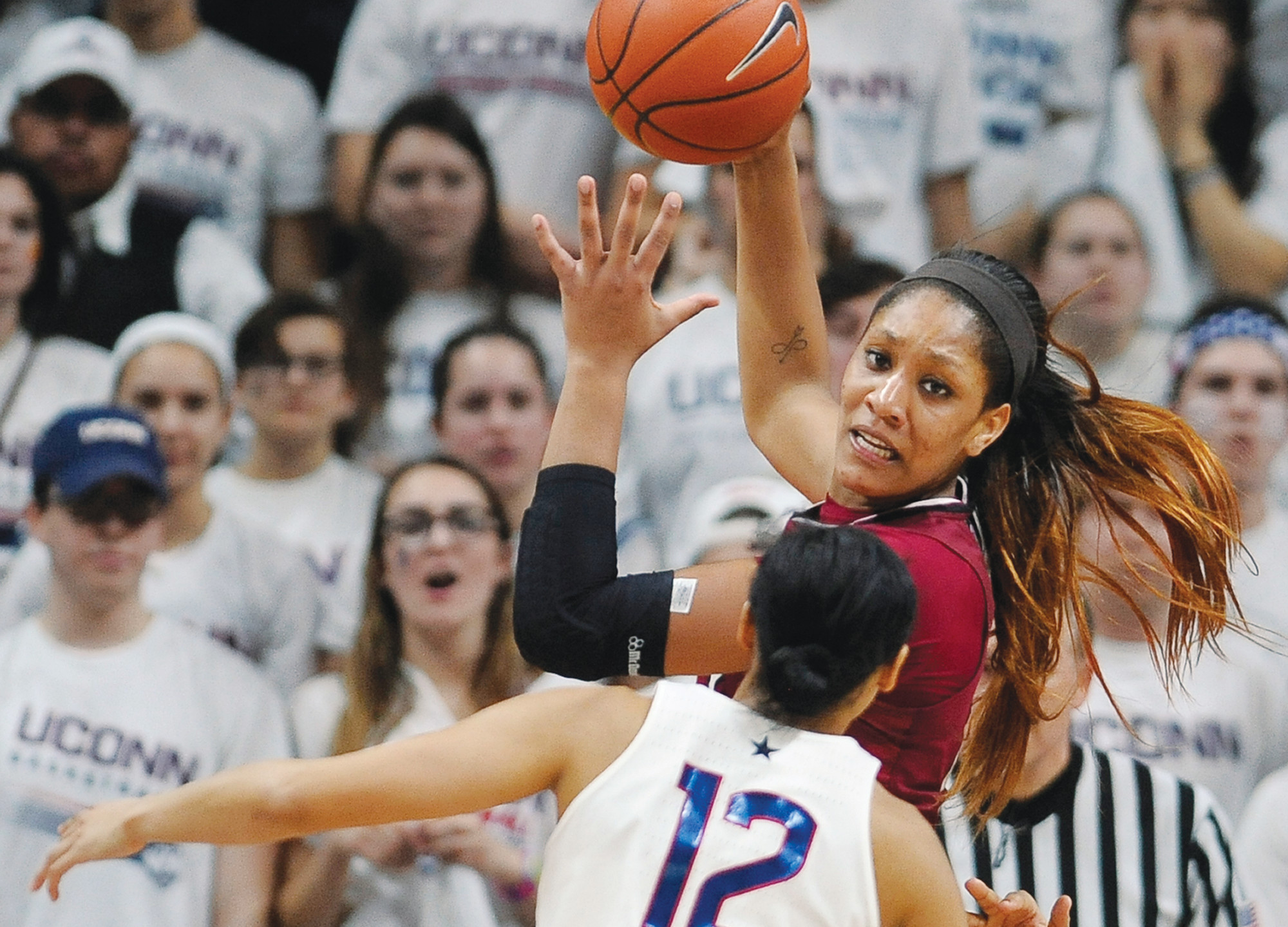 South Carolina's A'ja Wilson top is chronicling her path from the end of her college career to the start of her WNBA career including getting drafted. AP FILE