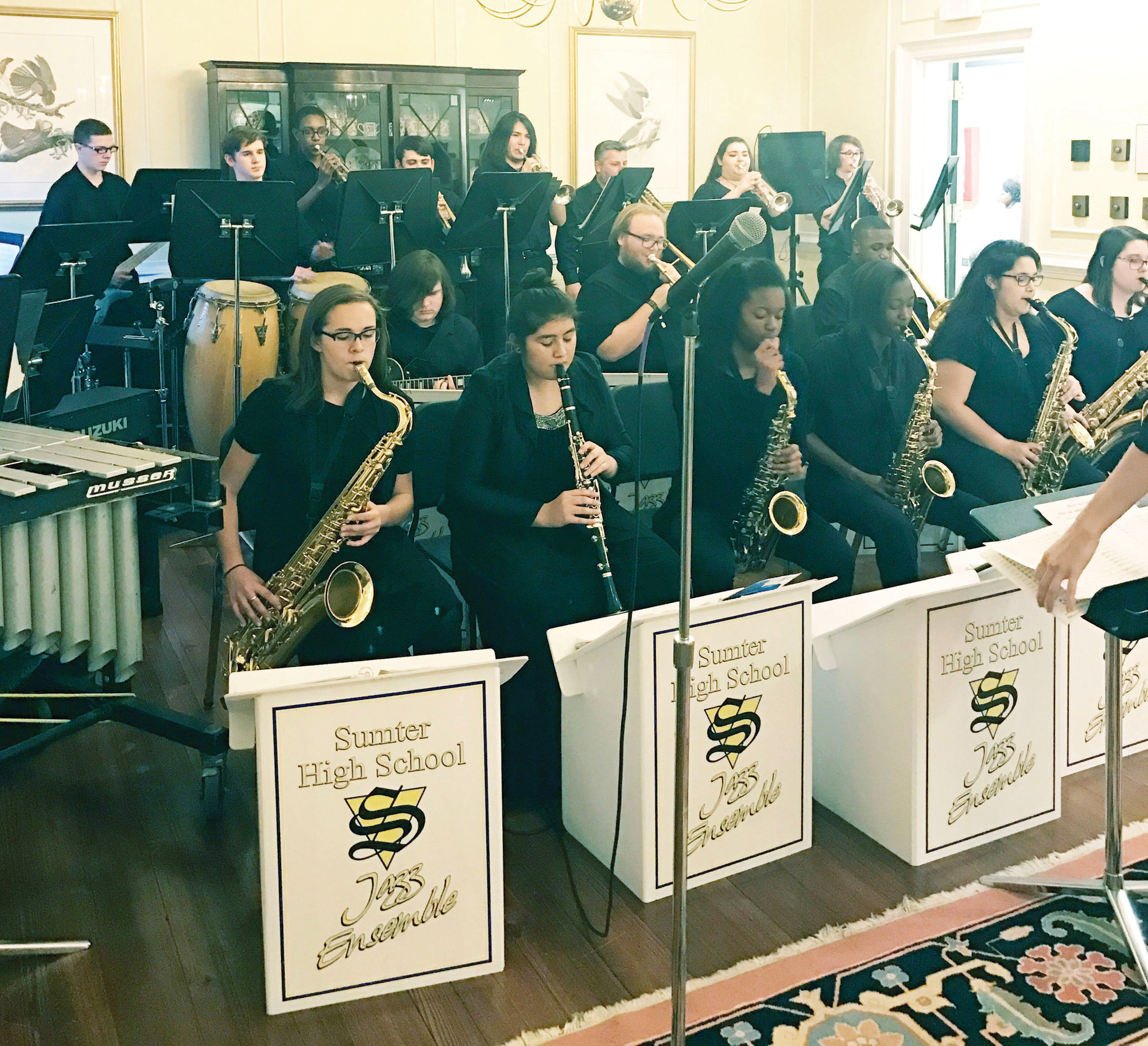 SUMTER ITEM FILE PHOTOSSumter High School Jazz Ensemble with its new director, Sean Hackett, will play at 7 p.m. Tuesday at Patriot Hall.