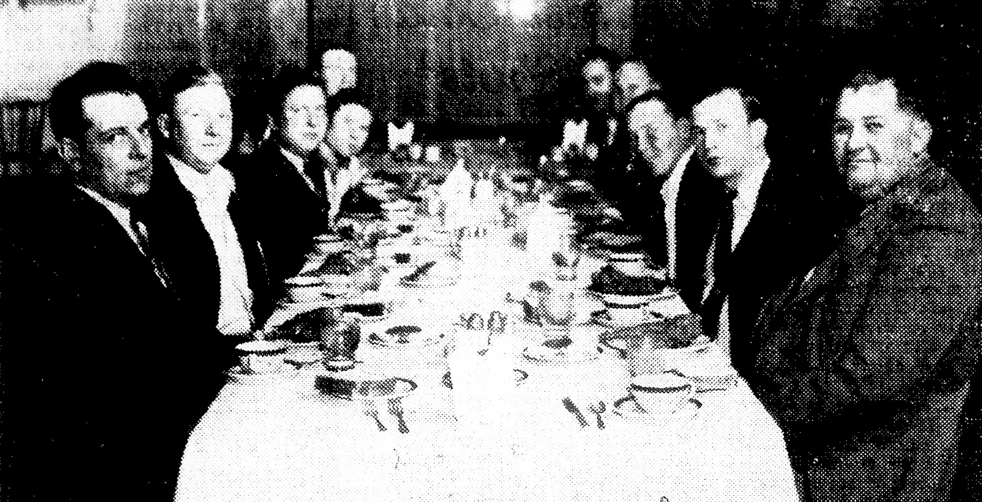 The employees of Keith's Garage and invited guests were treated to a chicken dinner at Julian's in 1941.