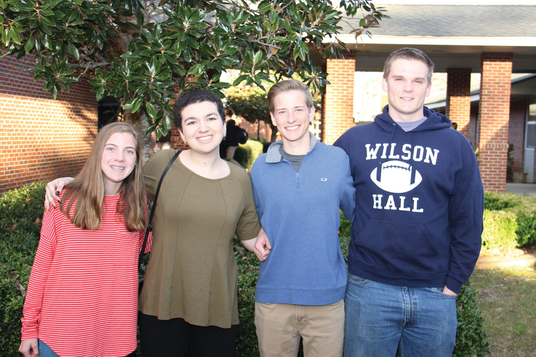 PHOTO PROVIDEDMary Jones, Hannah Alsaadi, Luke Kinney and Greyson Sonntag of Wilson Hall won first place in the SCISA Debate Competition.
