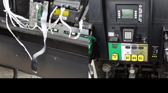 Skimmer devices similar to this have been found locally, police officials say. The Sumter Police Department asks businesses and customers to take steps to protect themselves.