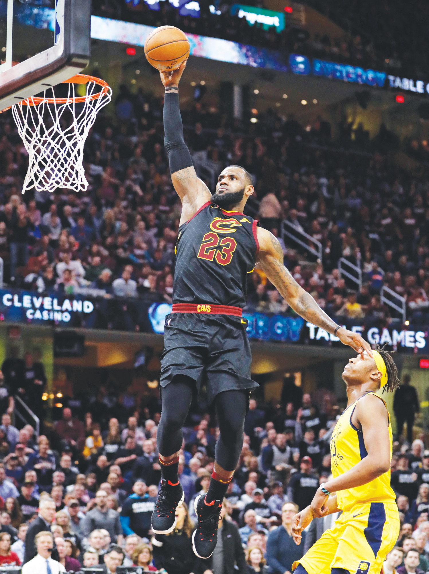 6650497a6d15 Cleveland Cavaliers  LeBron James (23) drives to the basket against Indiana  Pacers