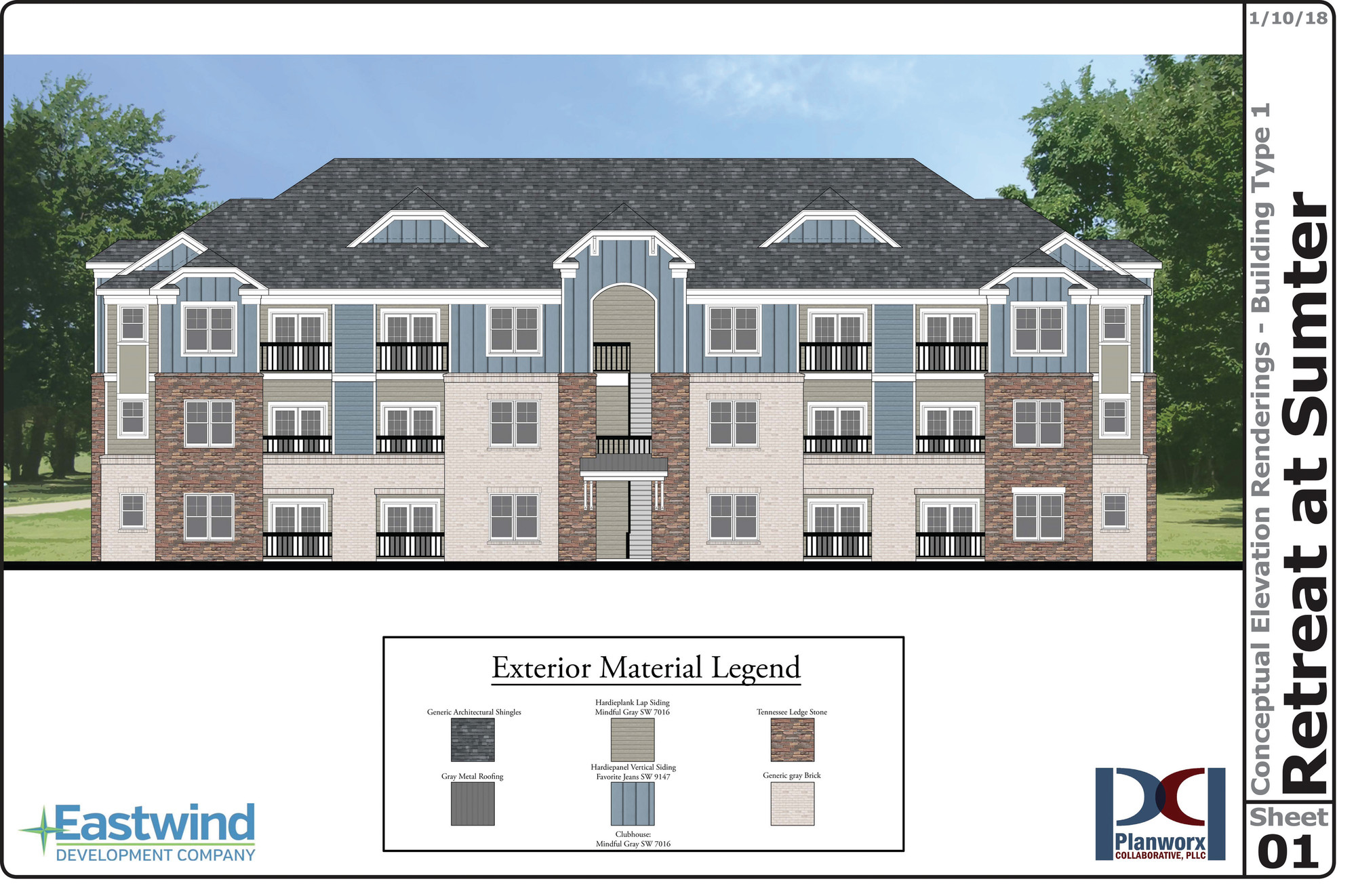 RENDERING PROVIDEDRetreat at Sumter Apartments will start leasing units in September.