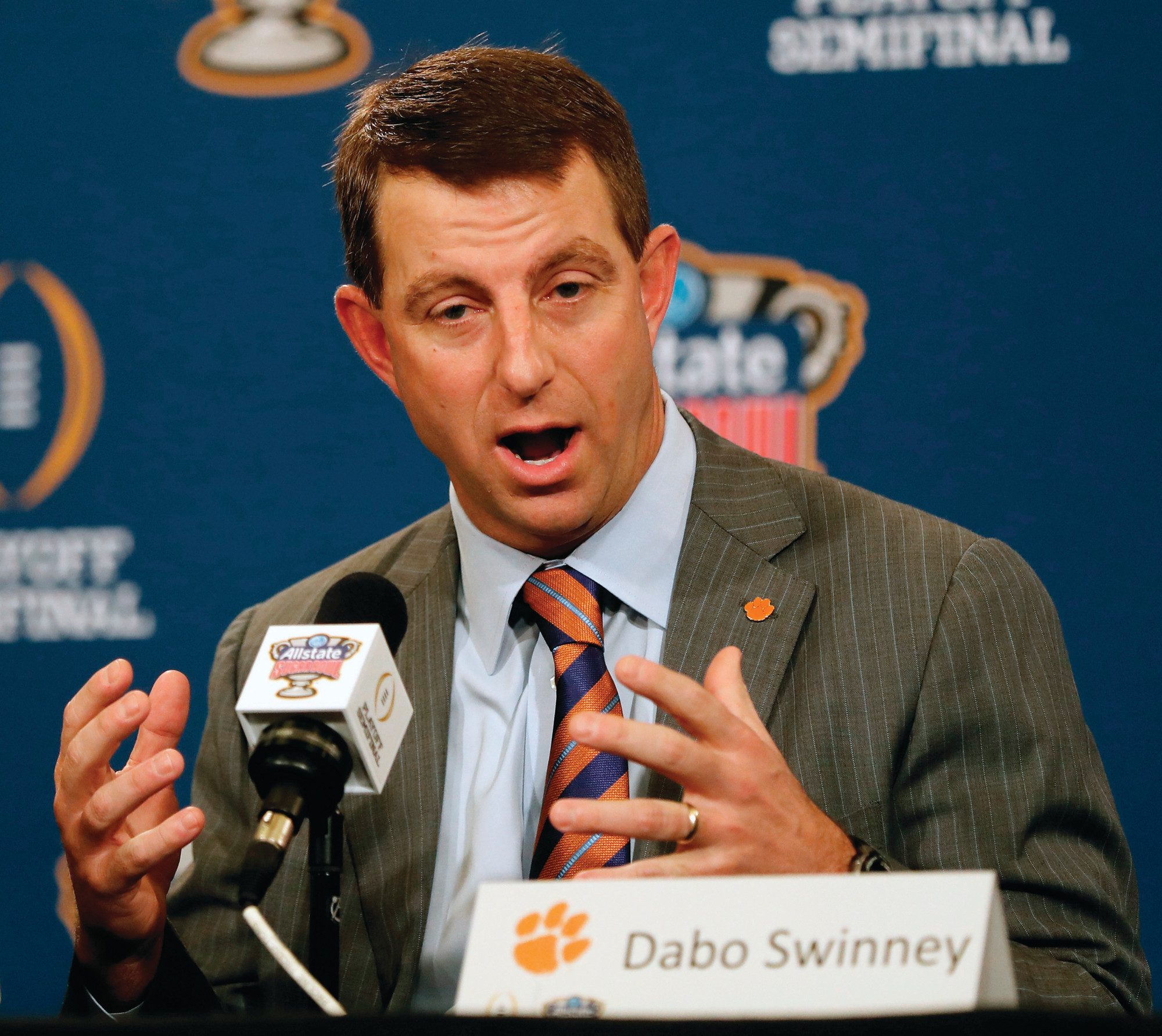 AP FILE PHOTOClemson head coach Dabo Swinney