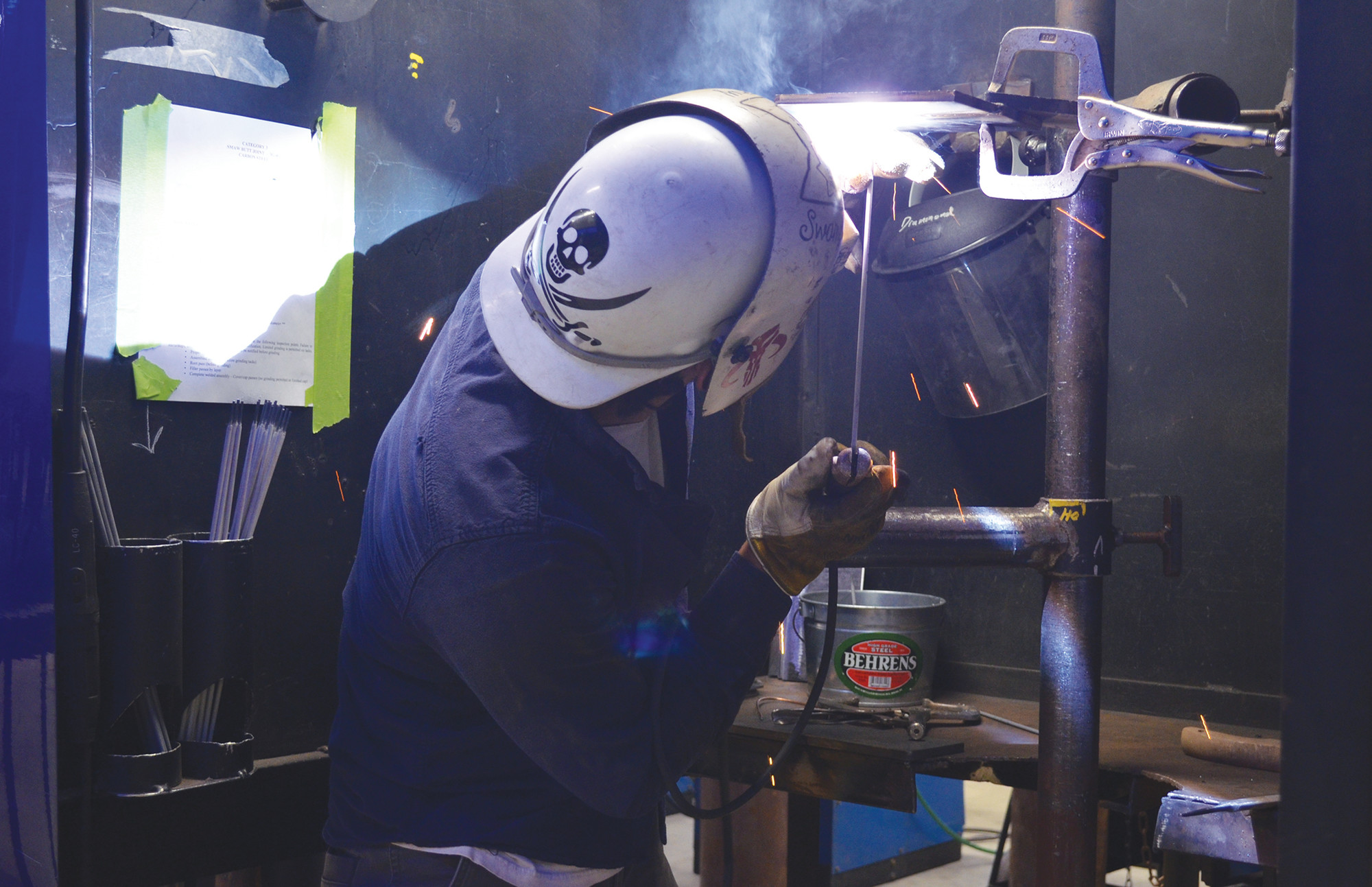 PHOTOS PROVIDEDCentral Carolina Technical College welding student David Drummond works on finishing his piece at the South Carolina Technical System's 36th Annual Welding Skills Competition held at CCTC's Main Campus on April 19 and 20.