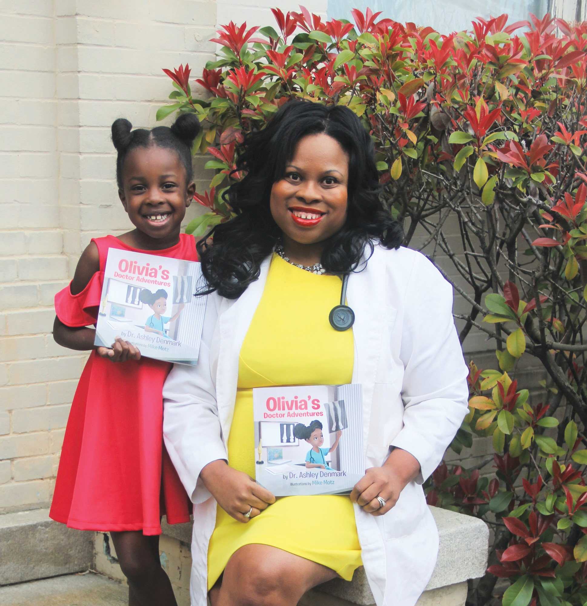 "PHOTOS PROVIDED  Denmark and her daughter Olivia, the inspiration for ""Olivia's Doctor Adventures,"" are pictured."