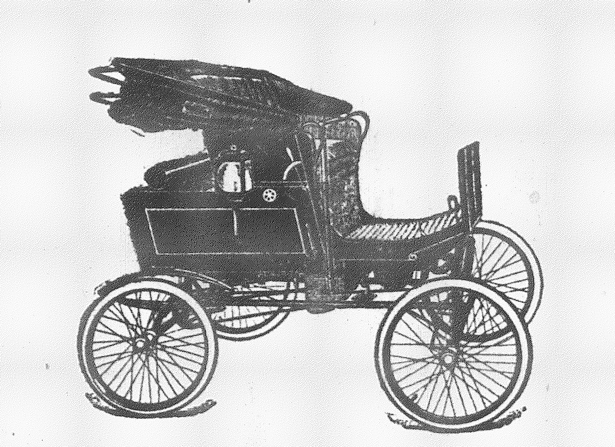The Locomobile was operated by steam and was bought by H. C. Bland of Mayesville and shipped to Sumter from Connecticut in 1901.
