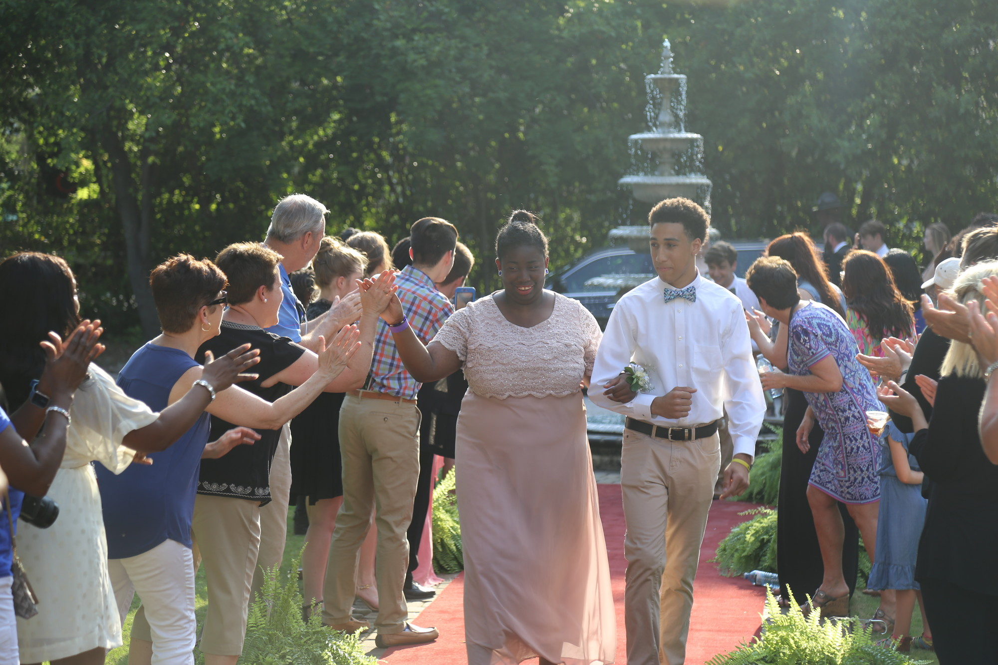 KAYLA ROBINS / THE SUMTER ITEMAttendees of the annual Joy Prom were welcomed to The O'Donnell House on Friday night by numerous people in the Sumter community.