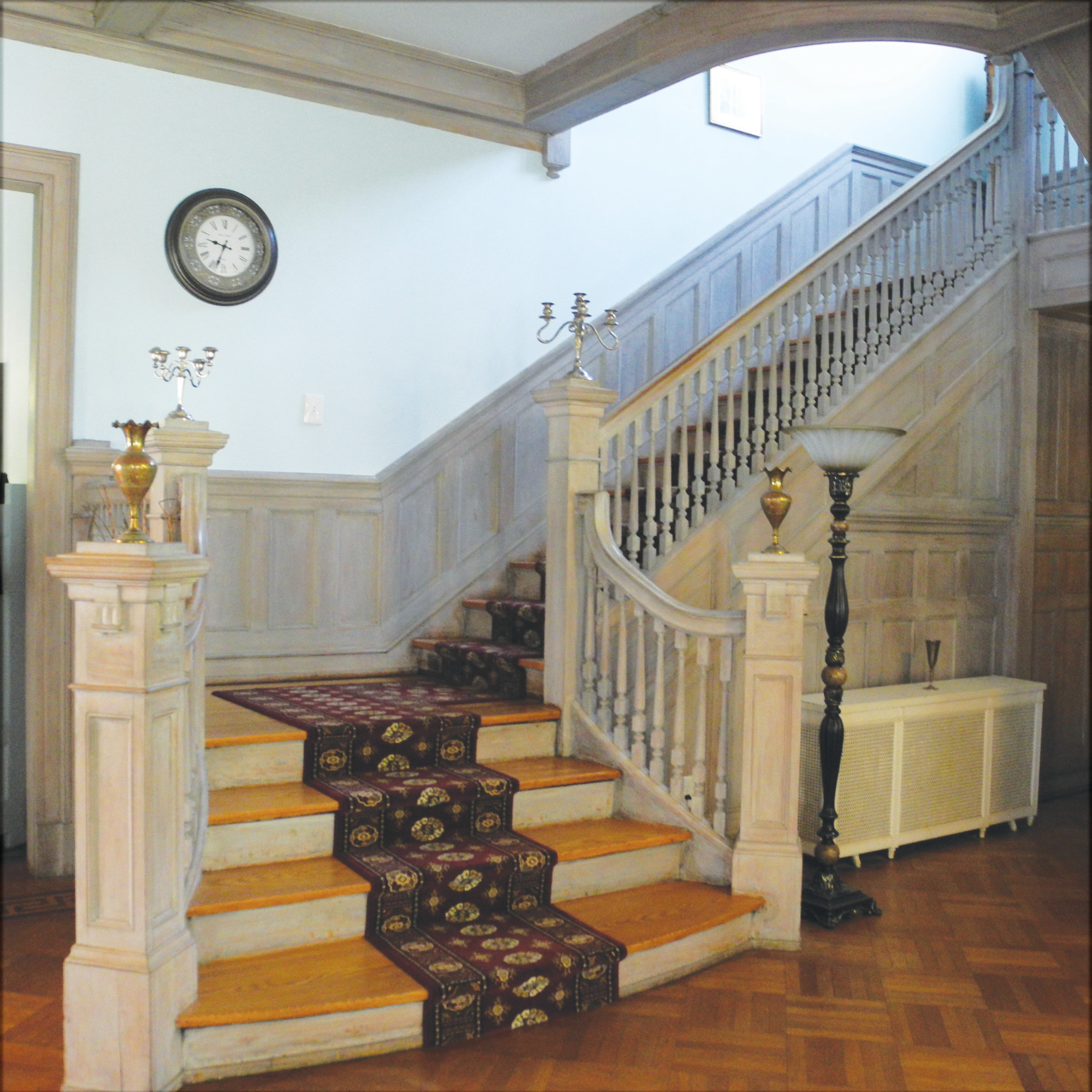 The first thing visitors are likely to notice upon entering 24 Warren St. is the staircase leading to the second floor, which overlooks the neighborhood.