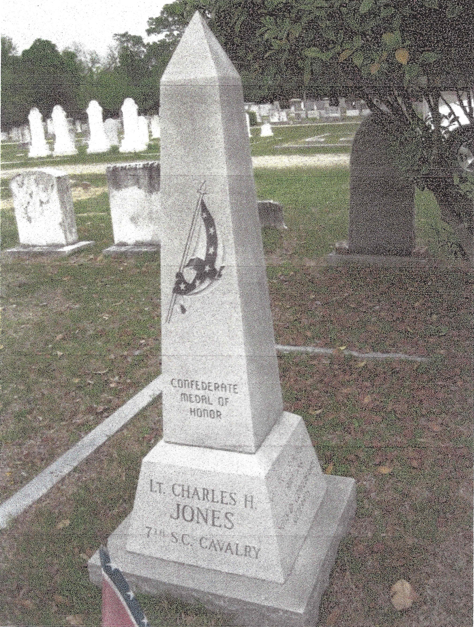 PHOTO PROVIDED A monument to Lt. Charles H. Jones recognizes him as a recipient of the Confederate Medal of Honor.
