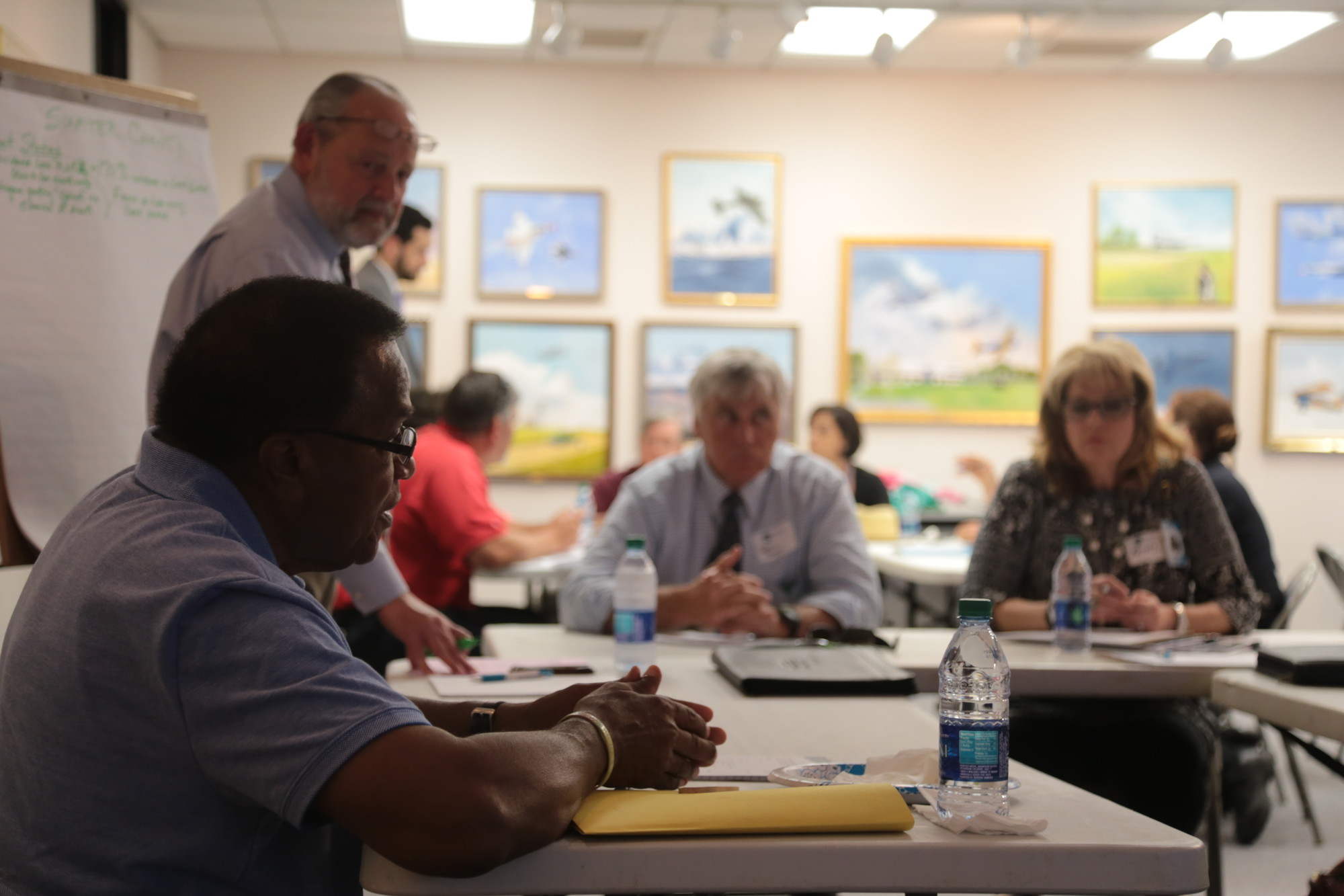 ADRIENNE SARVIS / THE SUMTER ITEMSumter County Councilman Gene Baten gives ideas about how to tackle the opioid problem in Sumter during a strategic work session hosted by Santee-Lynches Regional Council of Governments on Wednesday.