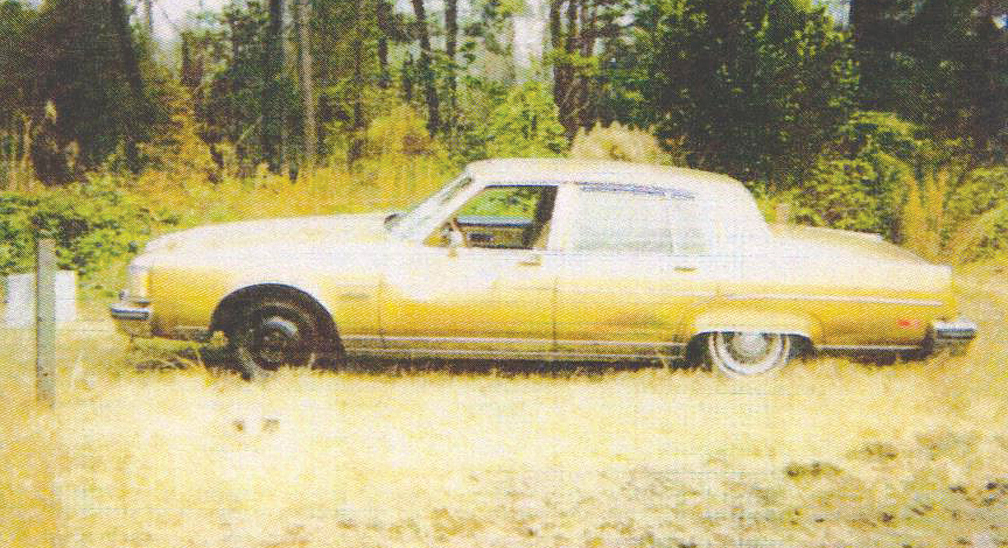Richard Gary's gold 1980 Oldsmobile Regency was located about half a mile off St. Pauls Church Road one month after he was reported missing.
