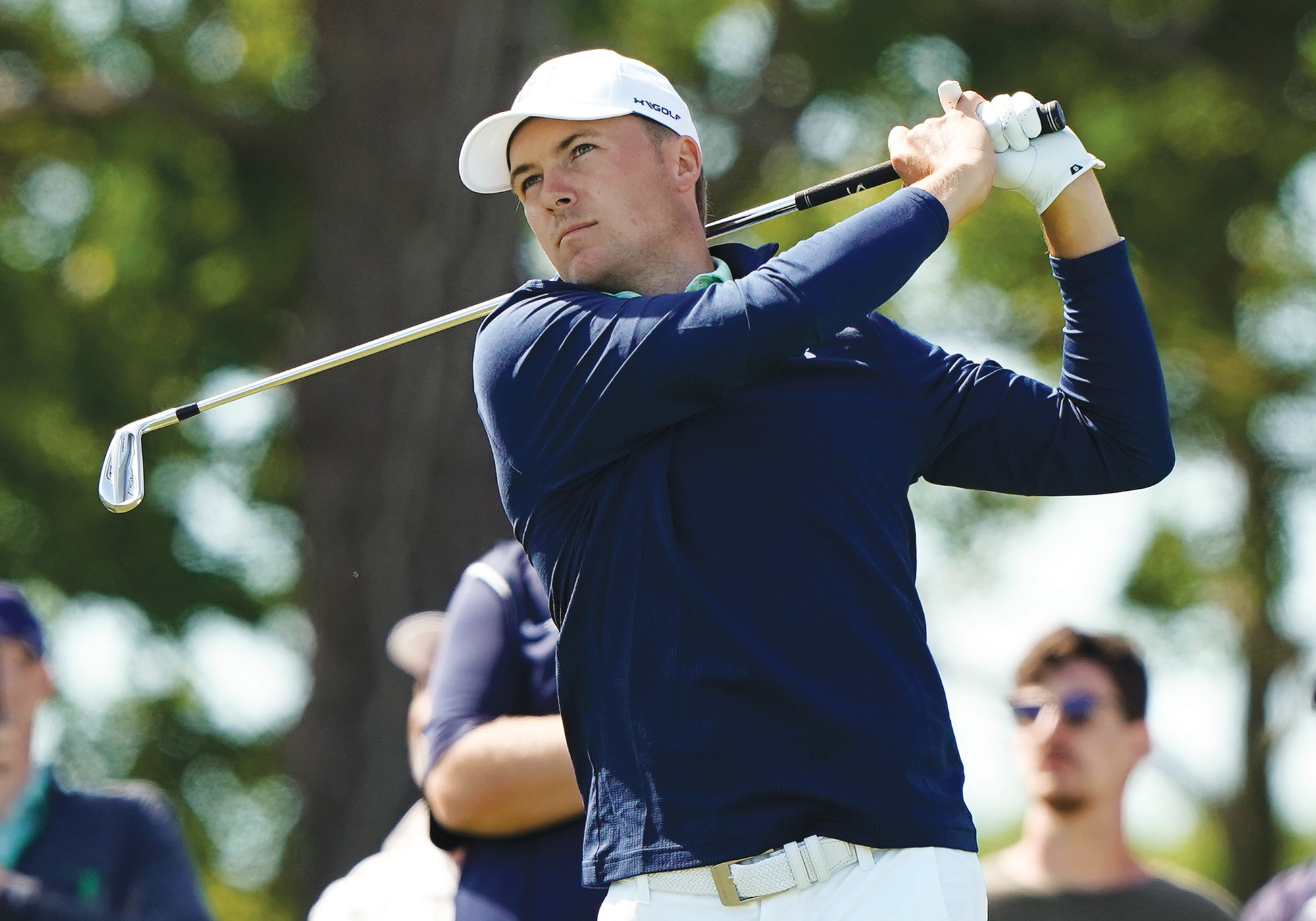 Jordan Spieth hits off the seventh tee during a practice round for the U.S. Open Golf Championship on Tuesday in Southampton, N.Y.