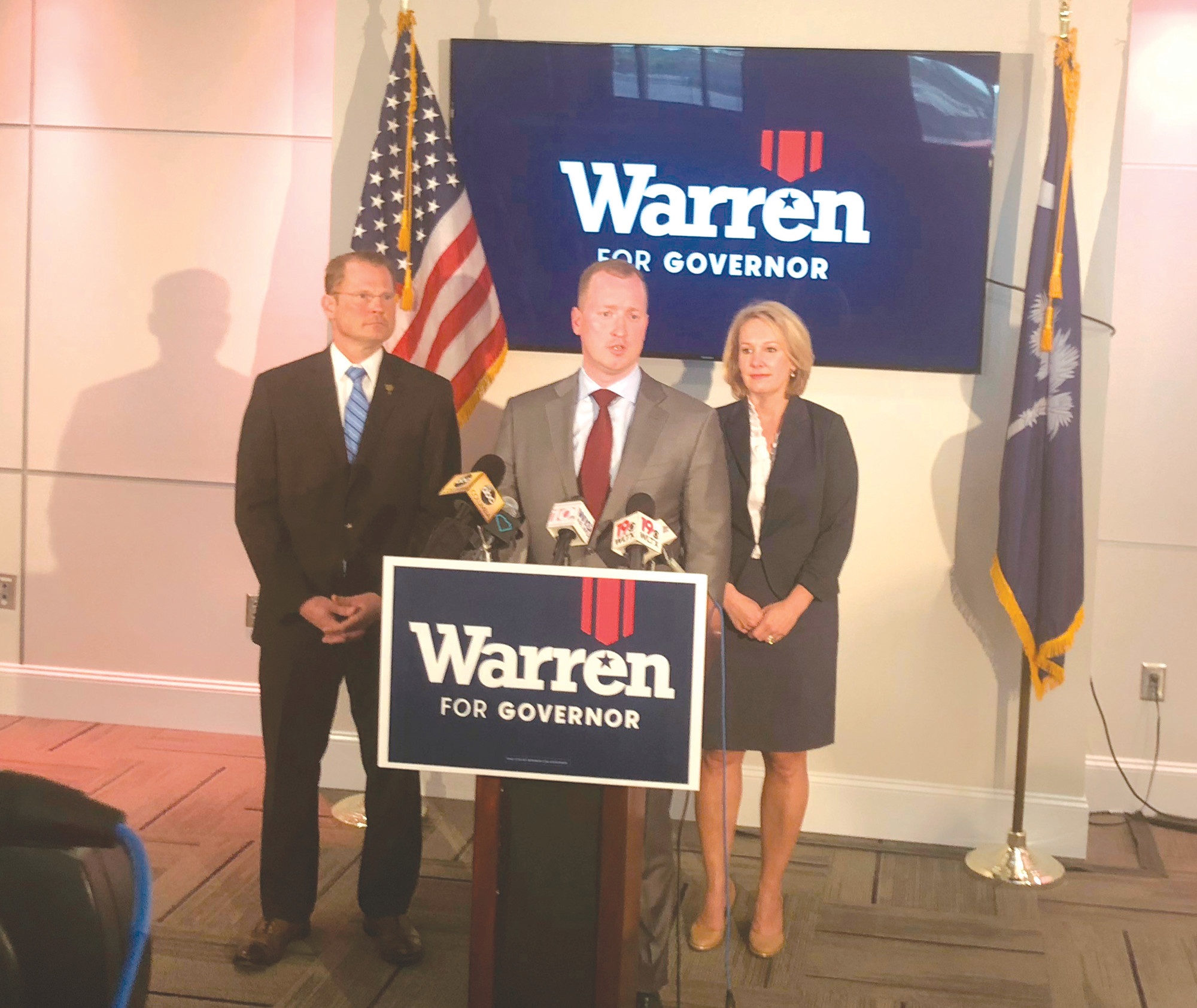 Greenville businessman John Warren speaks at a campaign event on Thursday, June 14, 2018, in Columbia. He is launching a political action committee that could ultimately serve as the springboard for another effort to oust the incumbent.