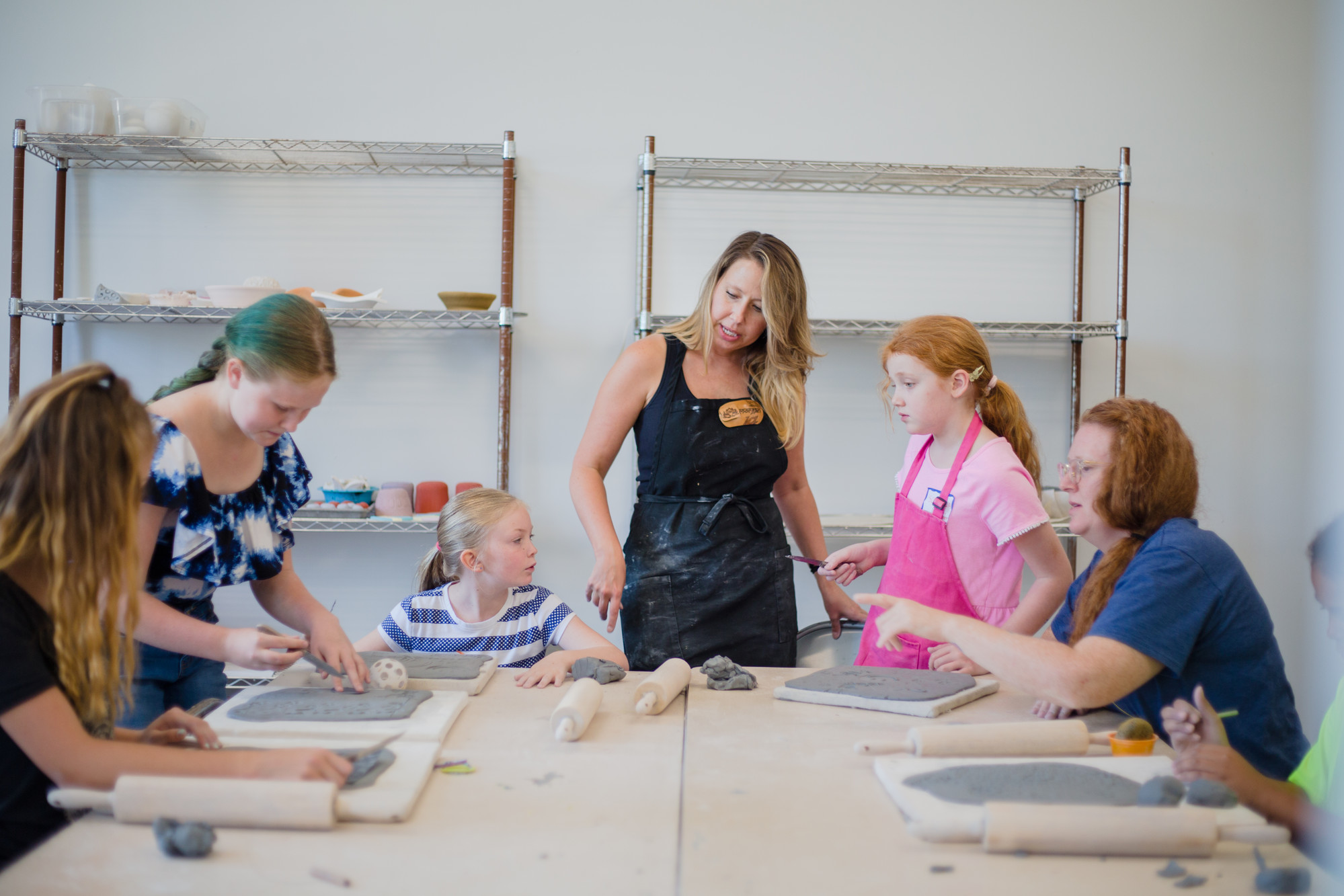 Morgan Edwards gives directions during her summer youth pottery class on Tuesday at the Sumter County Gallery of Art.