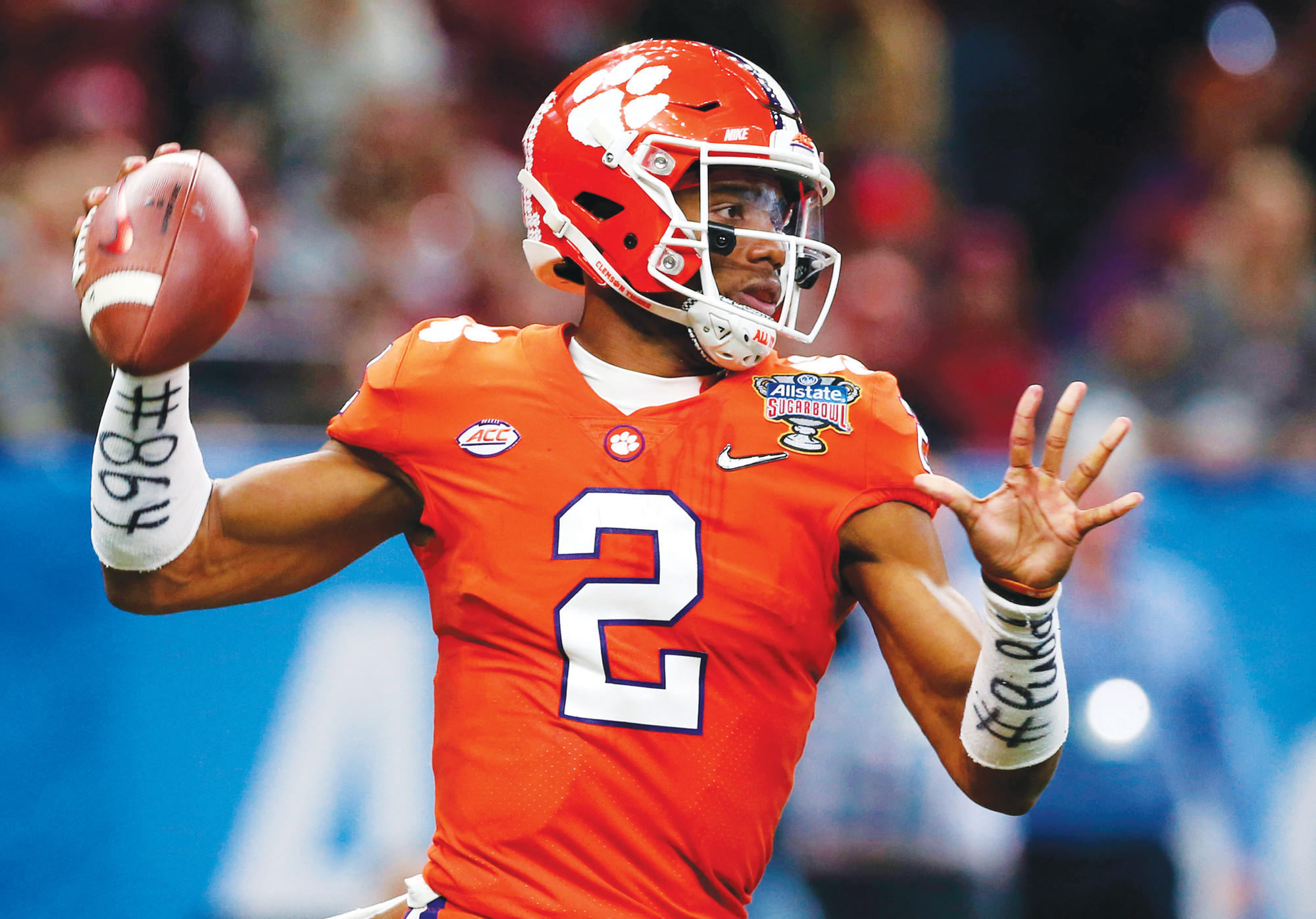 Clemson QB Kelly Bryant (2) will be back for the Tigers this season after leading them to the College Football Playoff last year in his first season as a starter. Clemson head coach Dabo Swinney is not concerned about his quarterback spot, even though the once-loaded depth at the position has been cut in half with transfers.