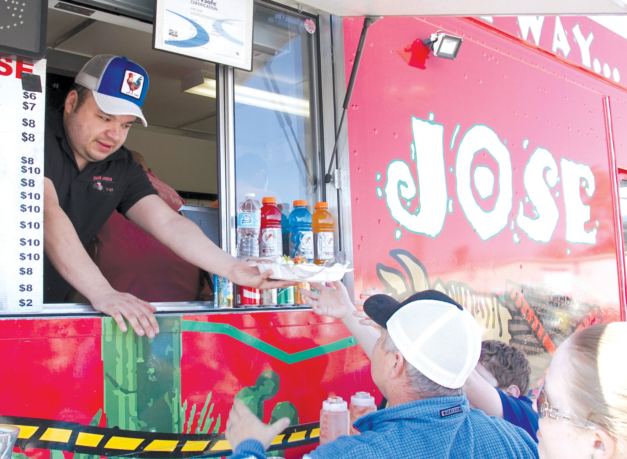 Hungry customers line up for food at Jose's Food Truck at a past Untapped Food Truck and Craft Beer Festival in Sumter.