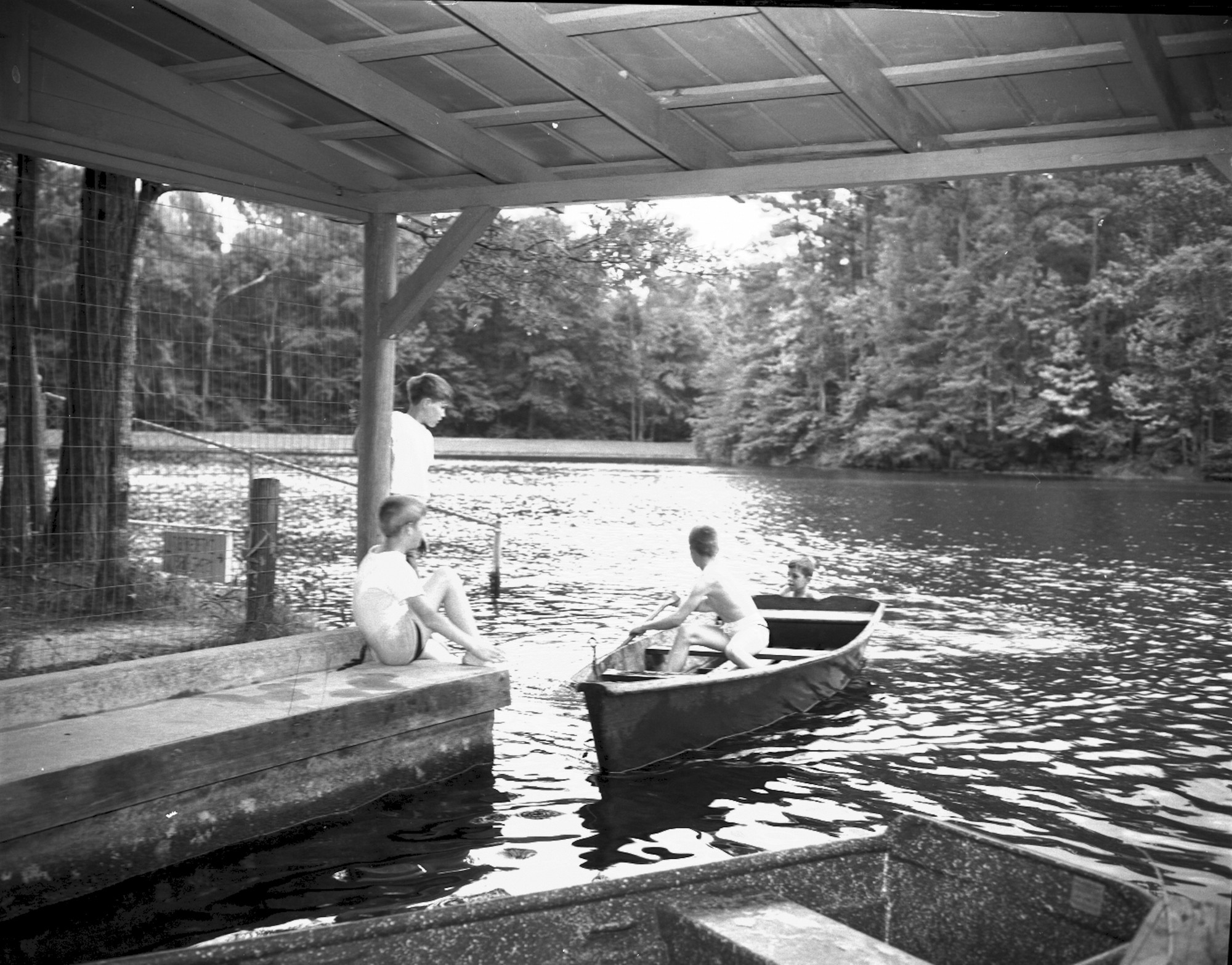 The boat house at Poinsett State Park remains for those wishing to get on the water.