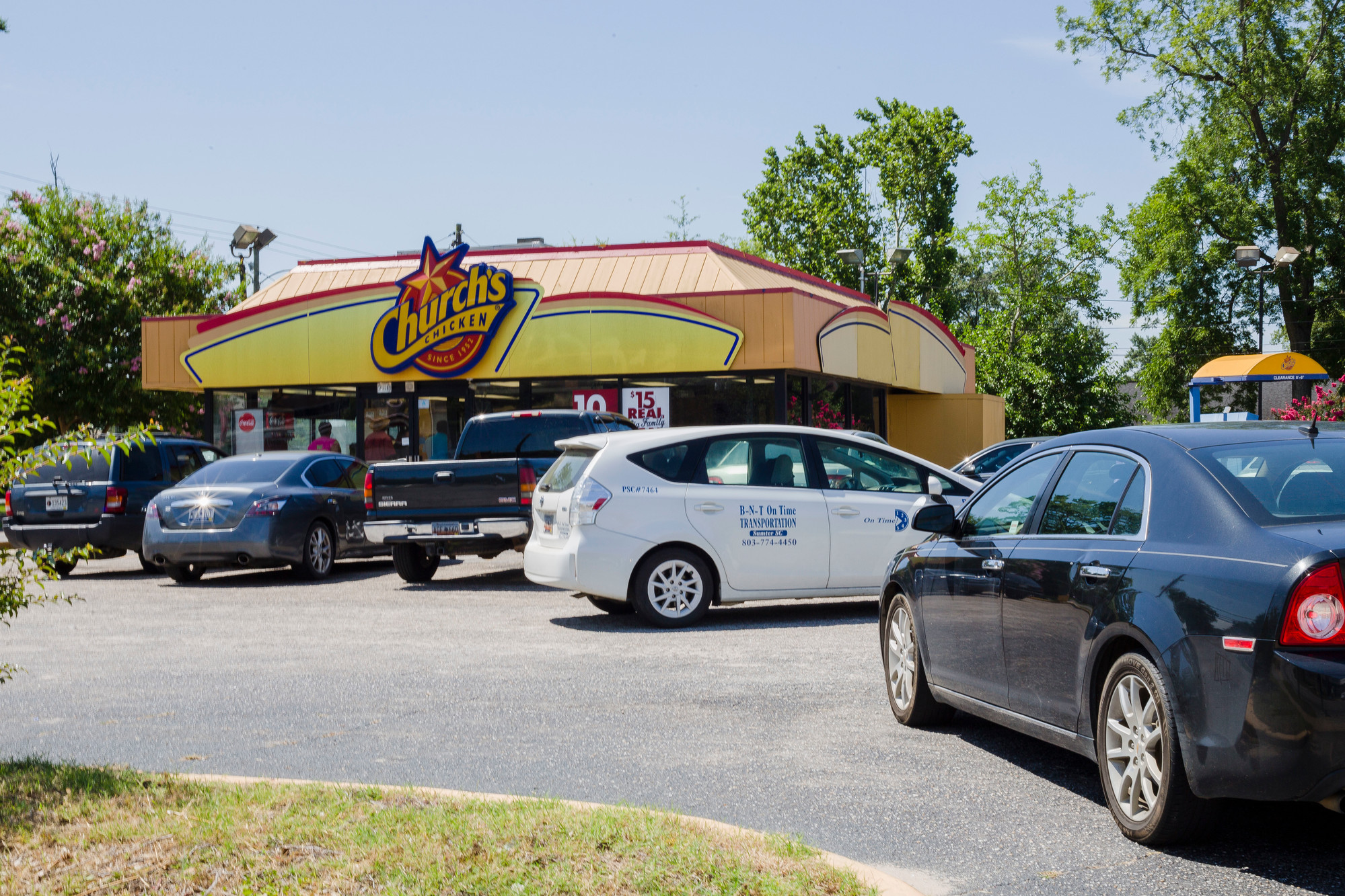 Church's Chicken, located at 202 W. Liberty St. in Sumter, has cars filling the parking lot and wrapping around the building to the street Friday. The fast food restaurant suddenly reopened Wednesday after being closed for about a year.