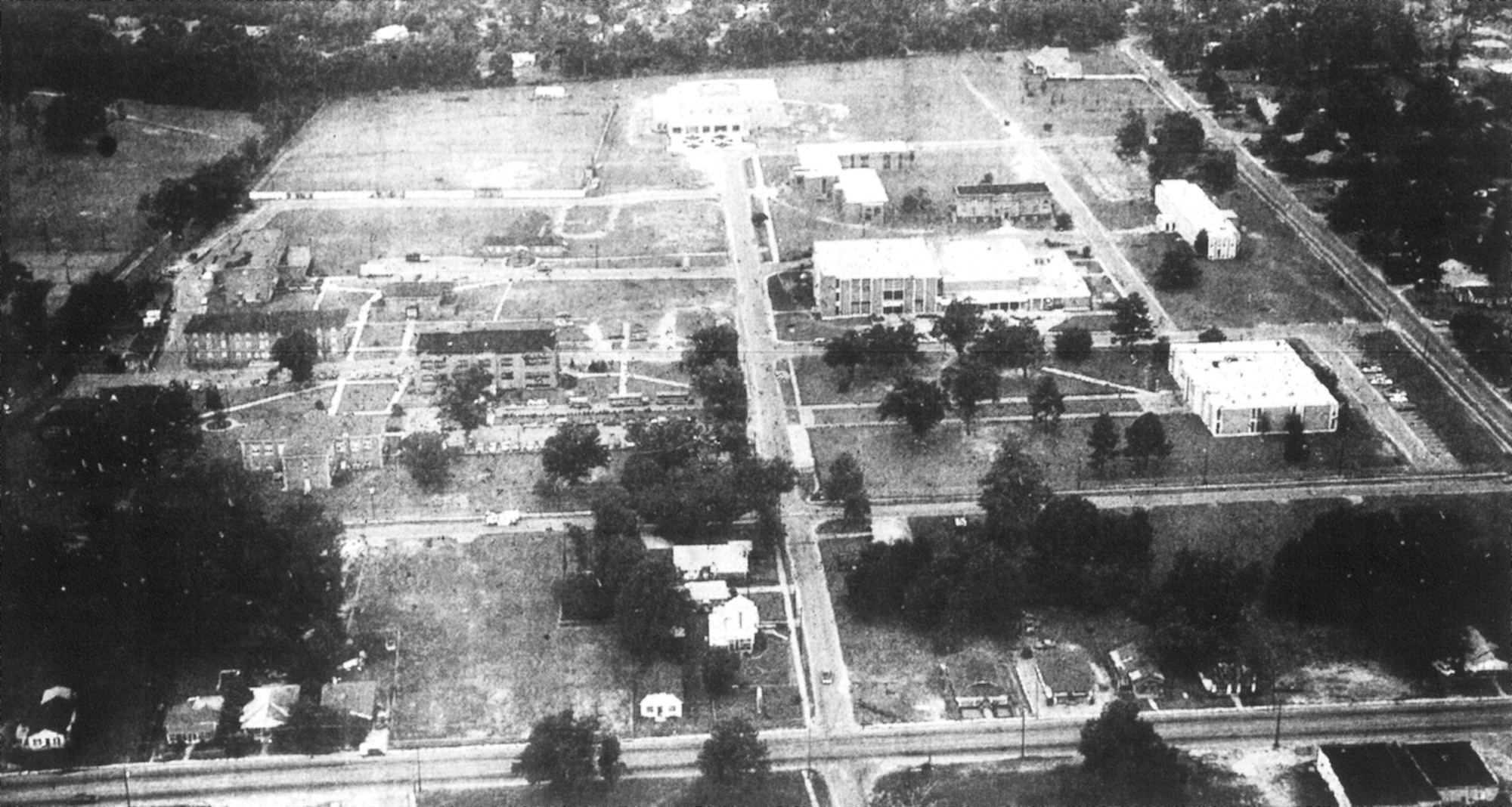 Morris College is seen in this aerial photo from the early 1990s during its expansion.